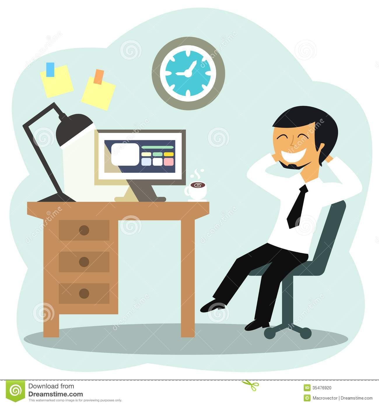 Happy Office Person Clipart