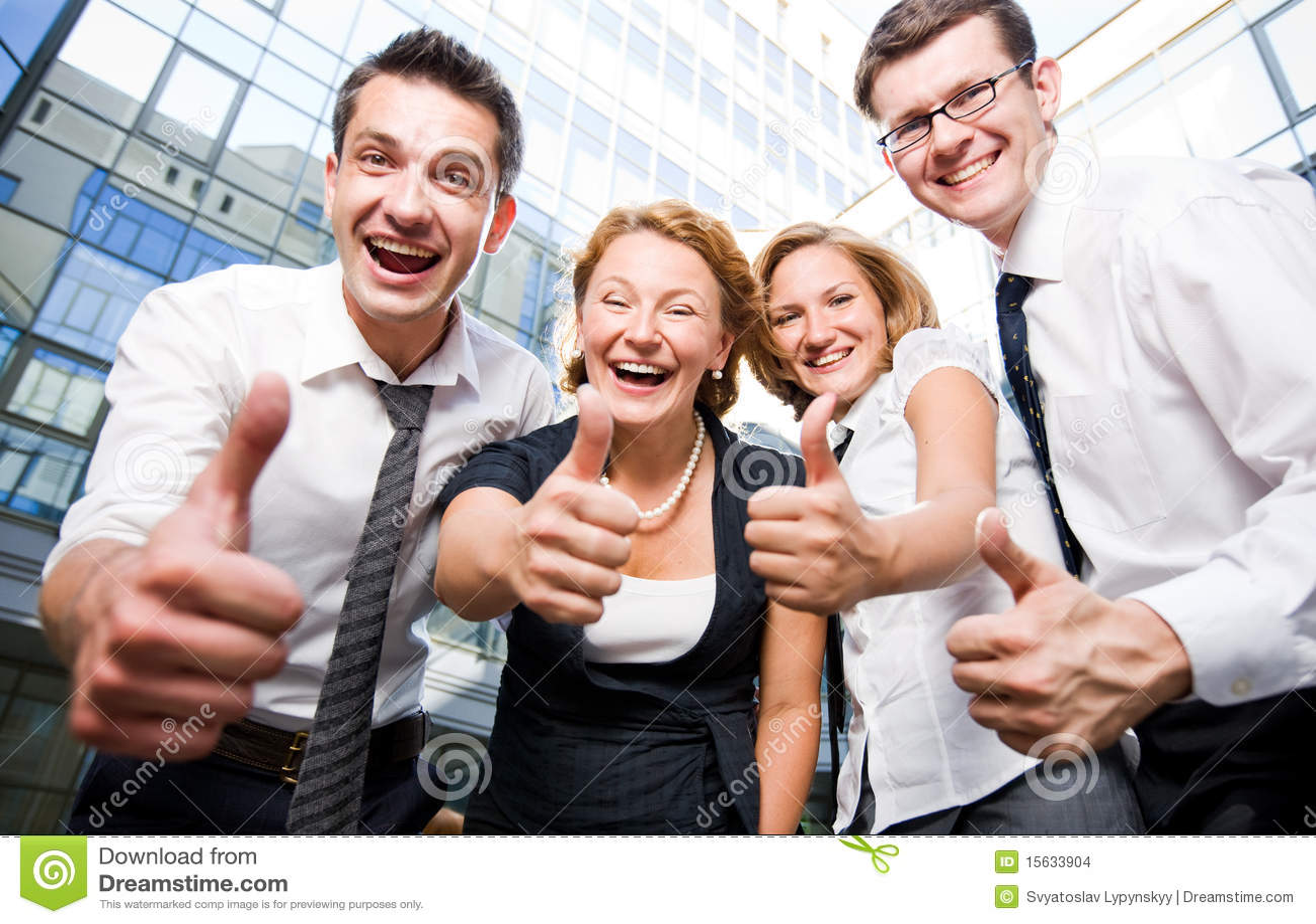 Feliz Personas Exitosas En Caricaturas: Happy Office Workers Stock Photo. Image Of Male, Happy
