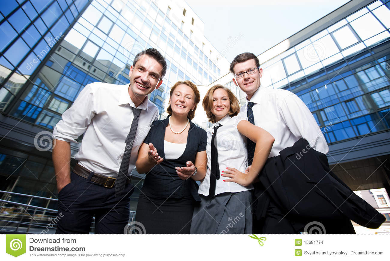Happy Office Workers Stock Images - Image: 15681774