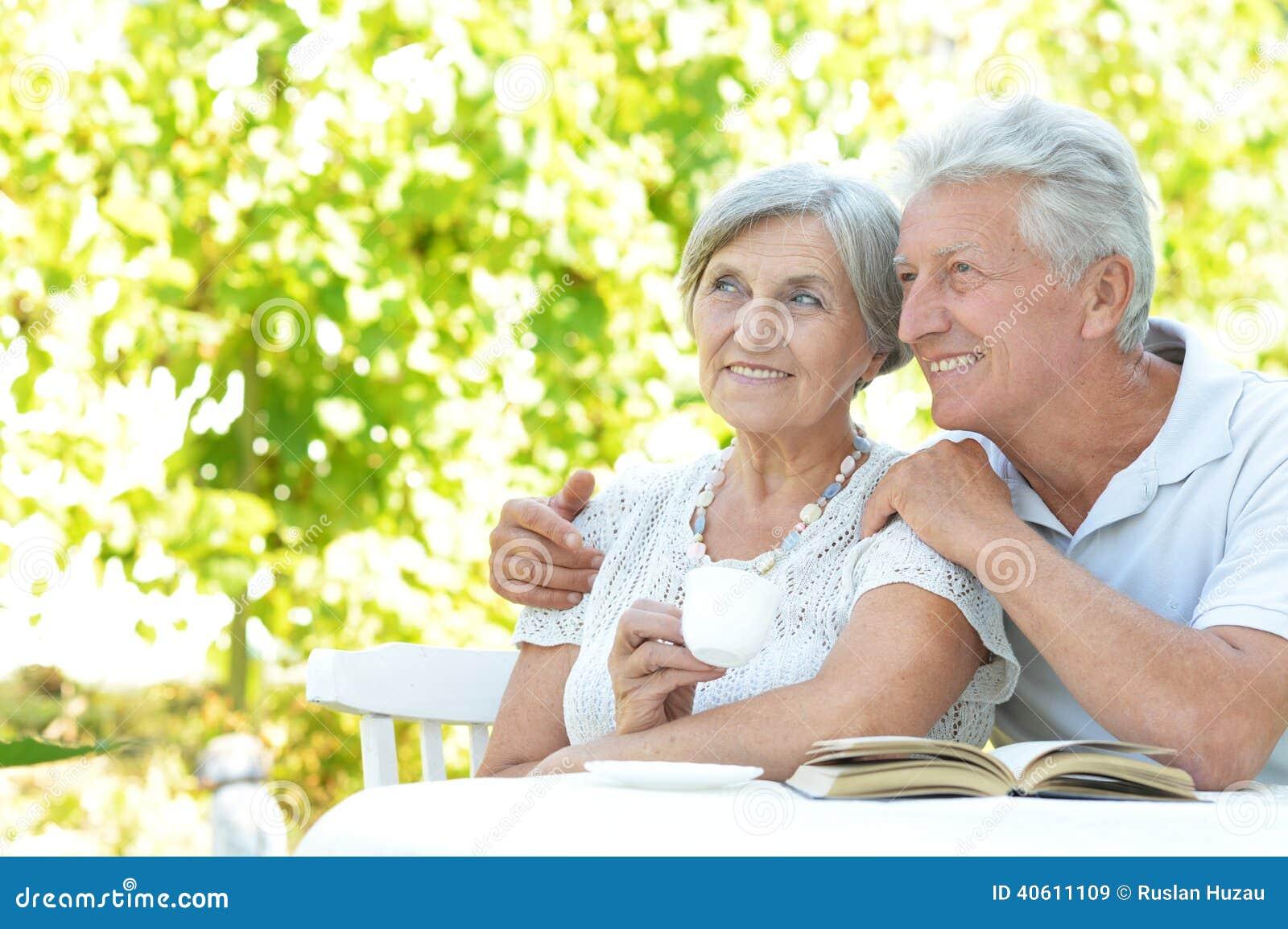 Happy Old Couple Stock Photo