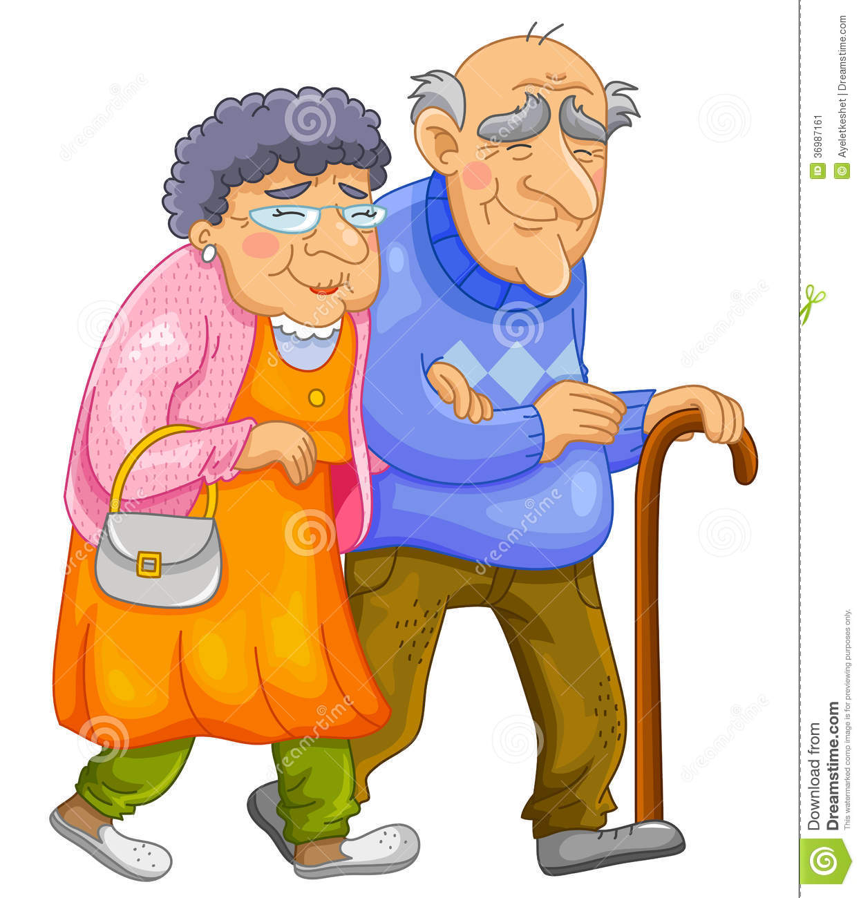 Happy Old Couple Stock Image - Image: 36987161