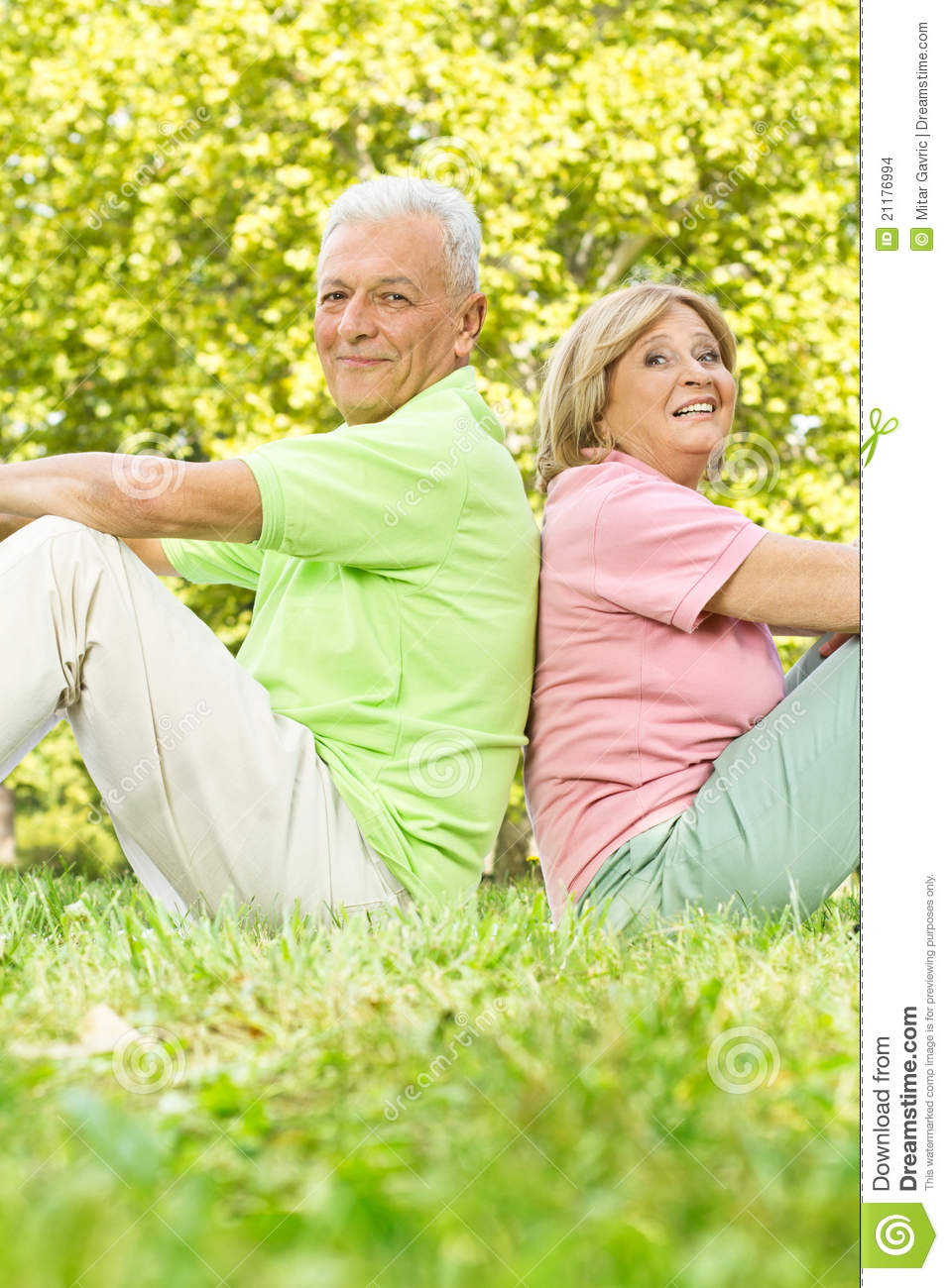 Happy old people relaxed