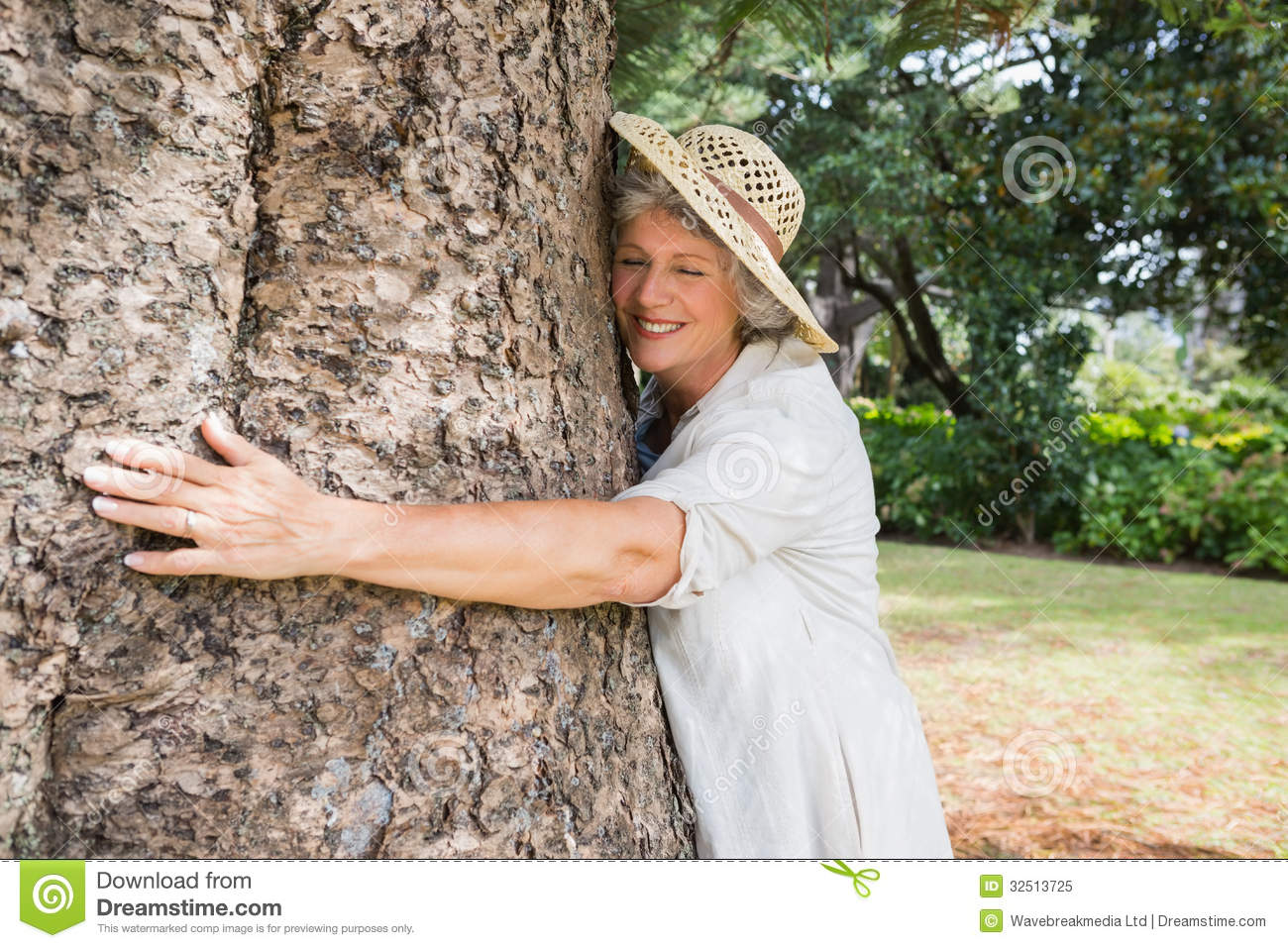 Woman dating a tree
