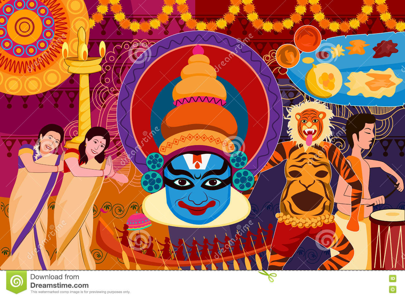 kathakali cartoons pictures illustrations - photo #1