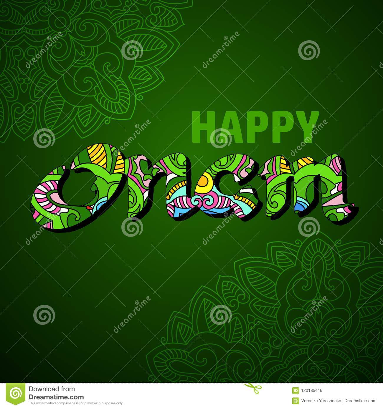 happy onam greeting card vector ethnic background