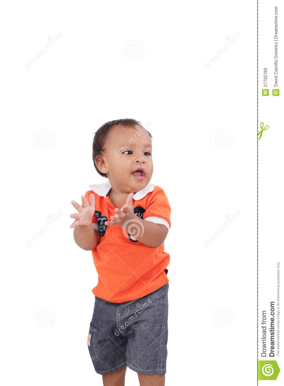 Happy One Year Old Baby Boy Royalty Free Stock Images