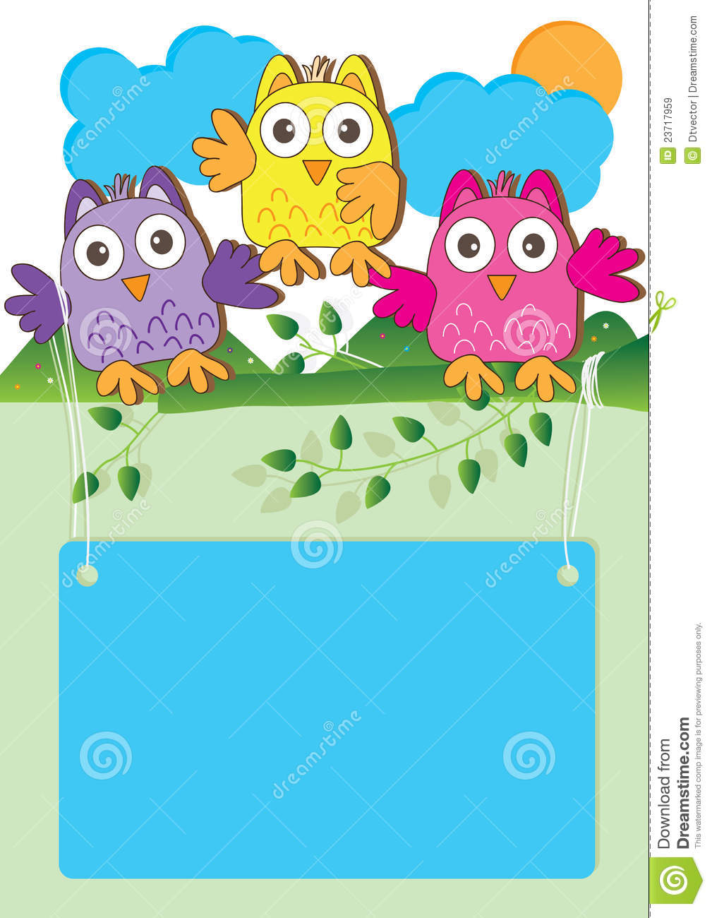 Happy Owl Introduction Eps Royalty Free Stock Images
