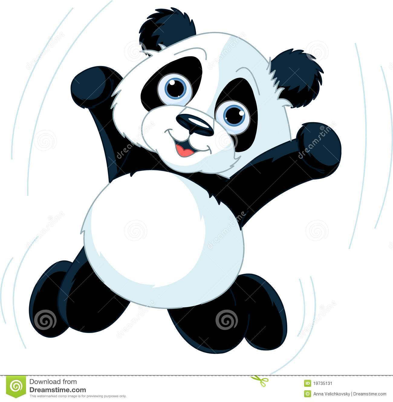 Happy Panda stock vector. Illustration of character ...