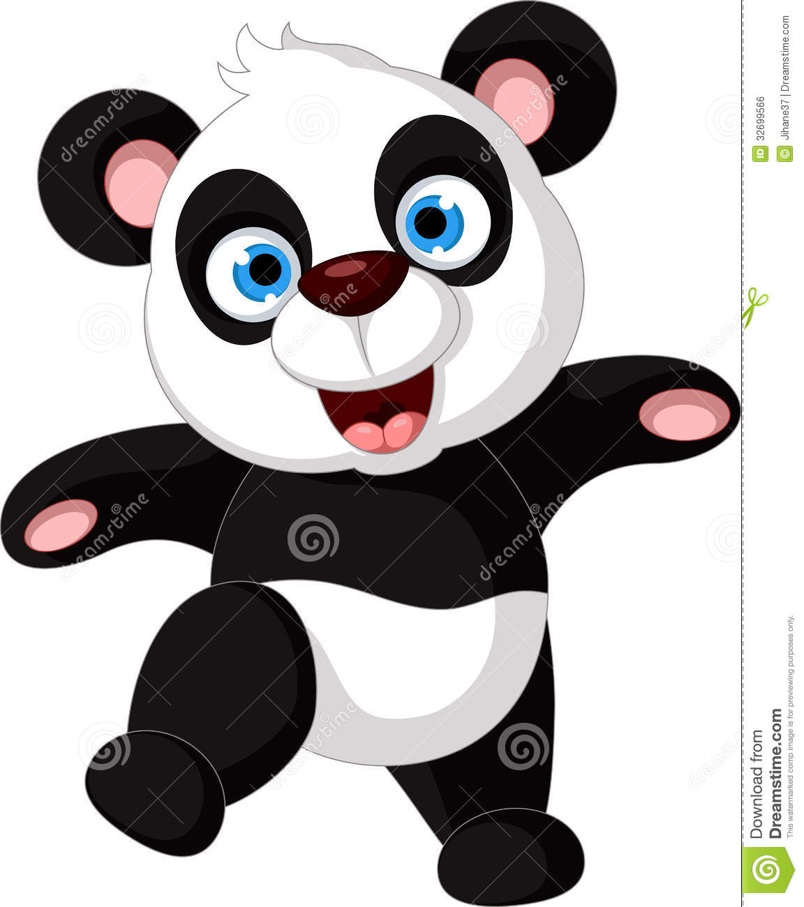 Happy Panda Cartoon For You Design Royalty Free Stock Image - Image ...