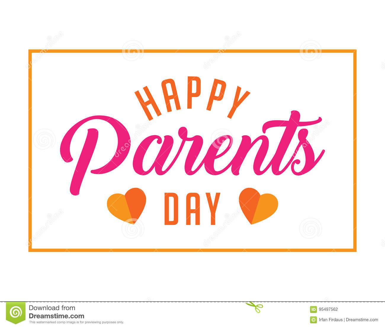 Happy Parents Day Greetings Stock Vector Illustration Of Abstract