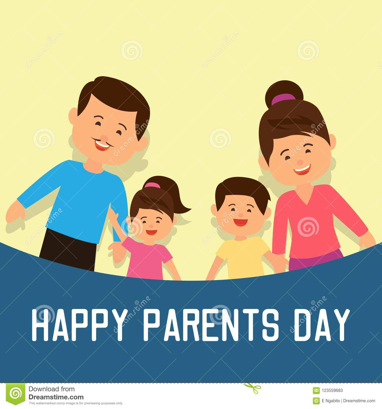 Happy parents`s day concept. vector illustration