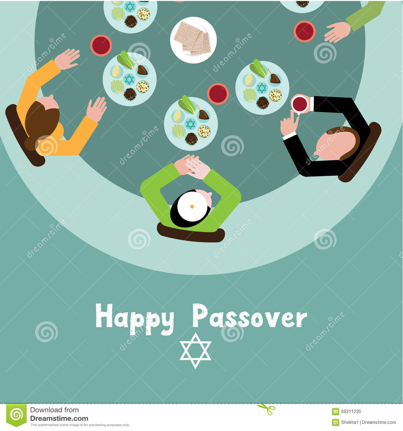 Happy passover seder meal greeting card stock vector illustration download comp m4hsunfo