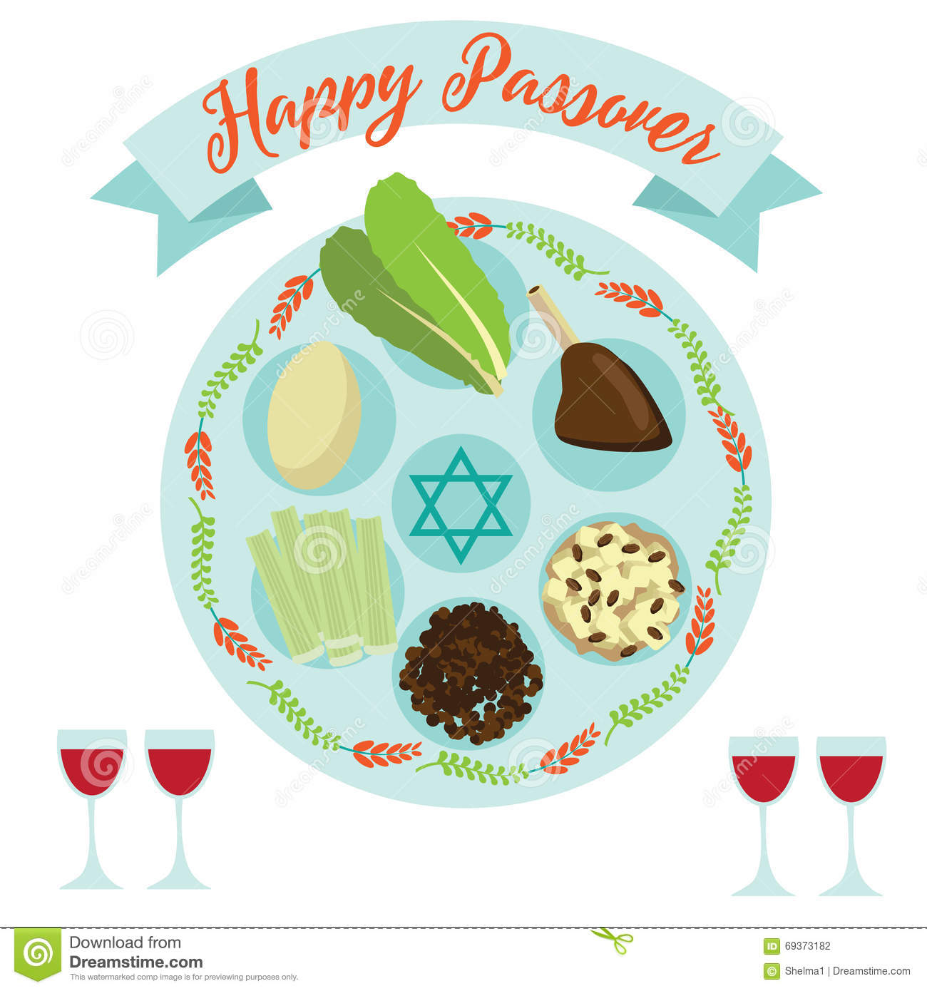Happy passover seder meal greeting card poster design stock happy passover seder meal greeting card poster design buycottarizona