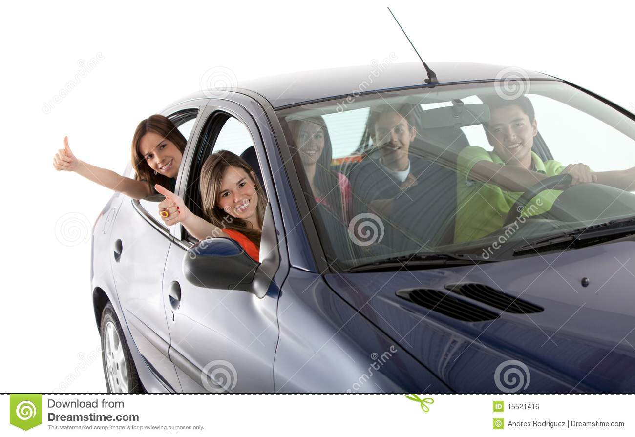 Car People: Happy People With A Car Stock Photo. Image Of Smiling