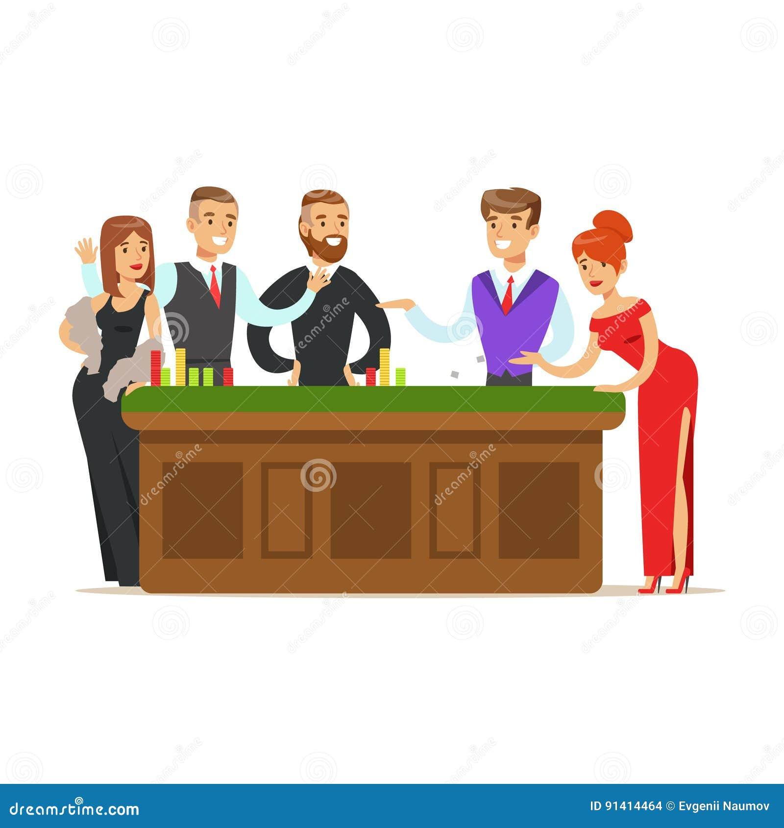 Business team cartoon characters cartoon vector cartoondealer com - Royalty Free Vector Download Happy People Gambling At Table In Casino Colorful Cartoon Character