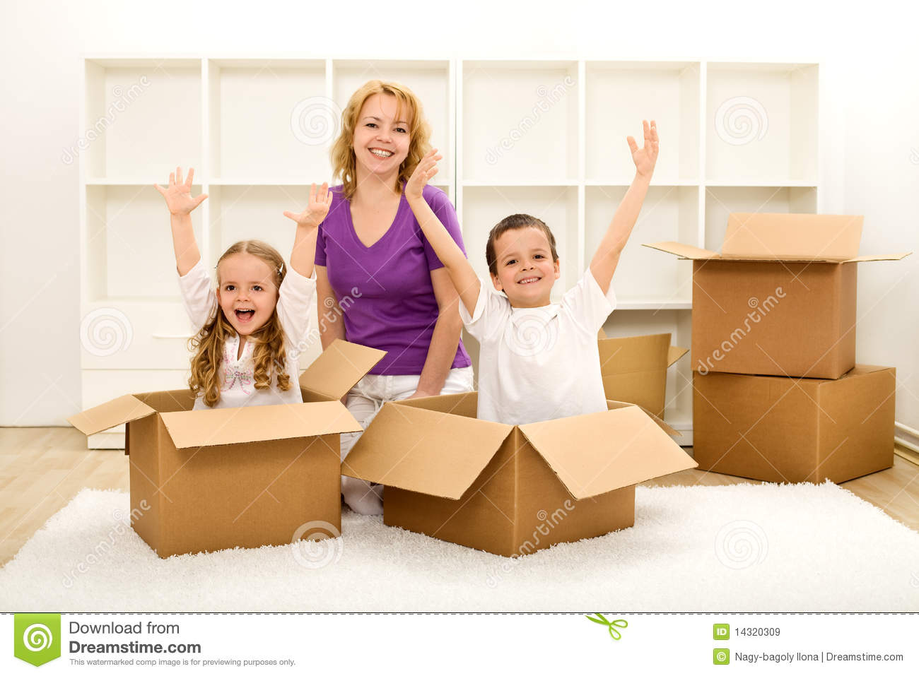 Happy People Moving In A New Home Stock Image - Image of ...
