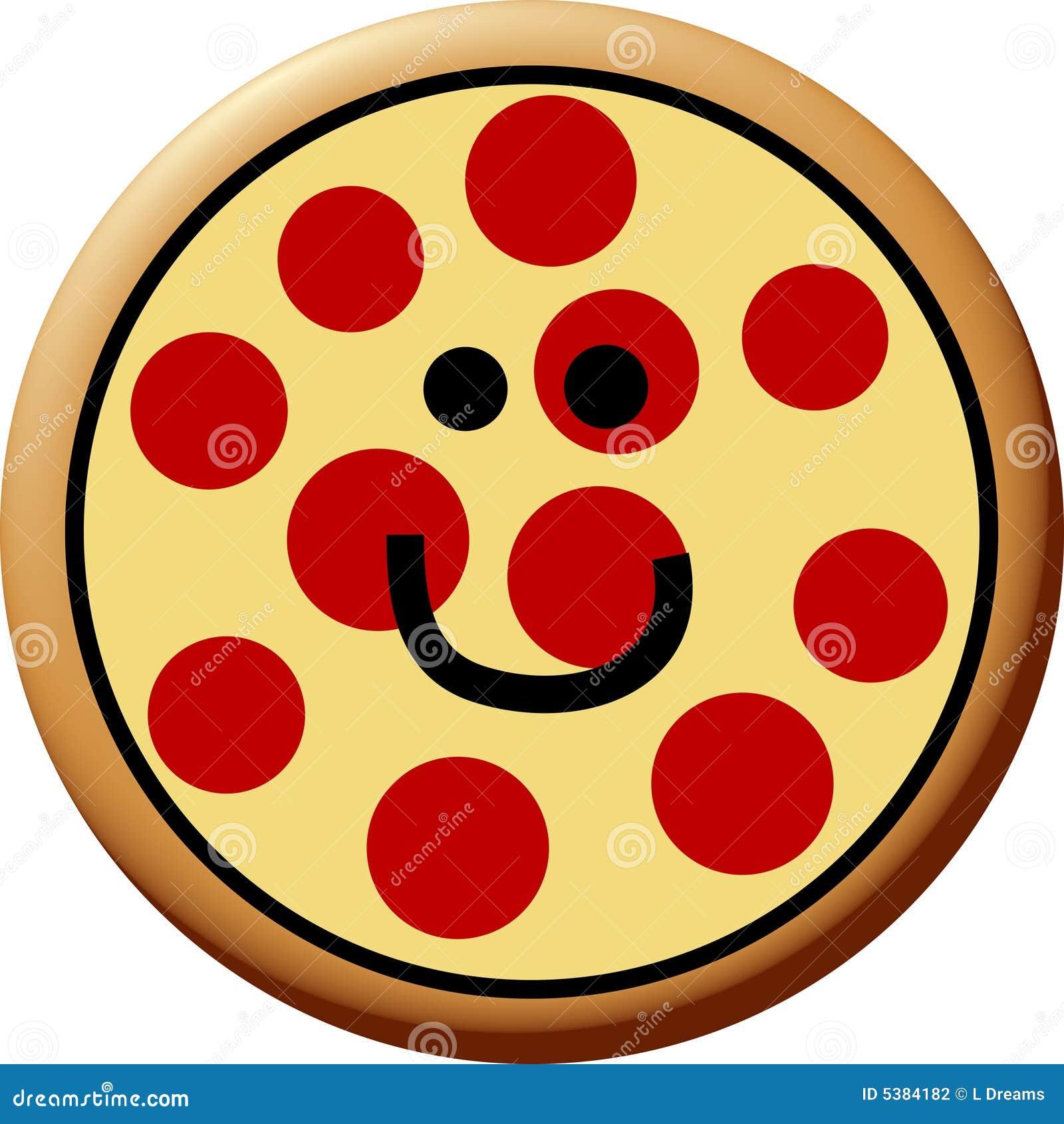 happy pepperoni pizza stock illustration illustration of meal 5384182 rh dreamstime com pepperoni pizza slice clipart Pepperoni Slice Clip Art