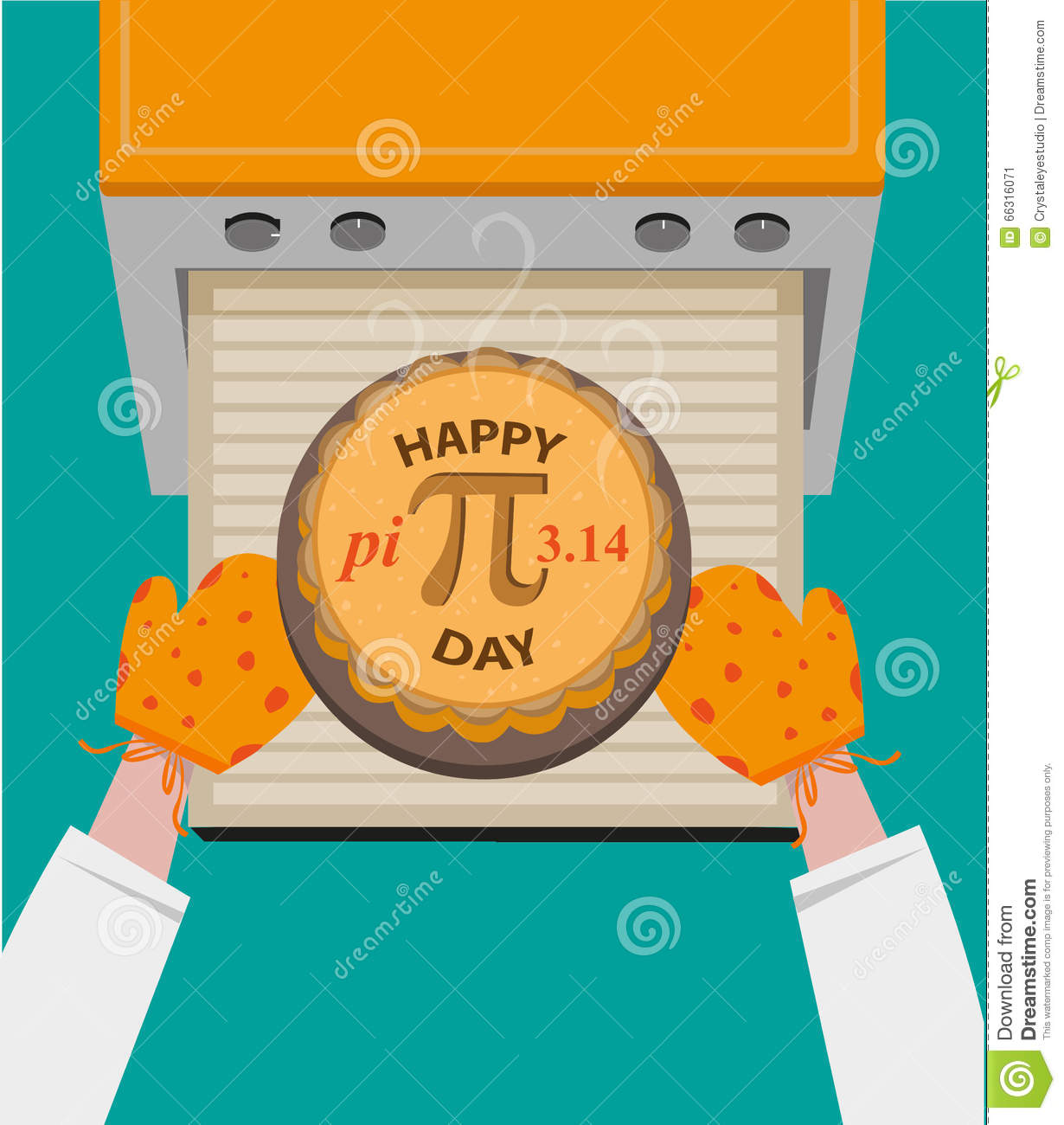 Happy Pi Day concept observed every March 14. Editable Clip art.