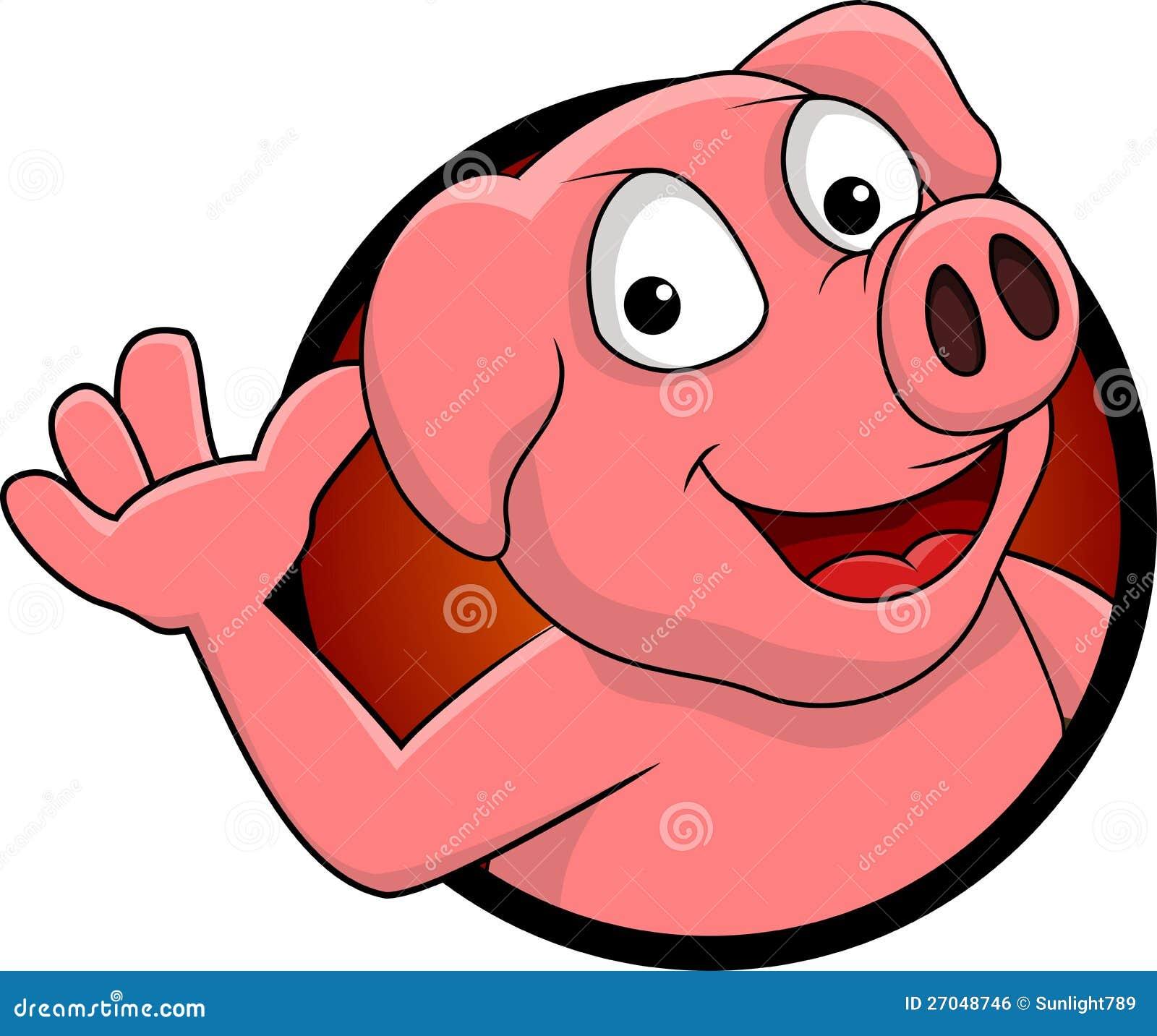 Happy cartoon pig gallery