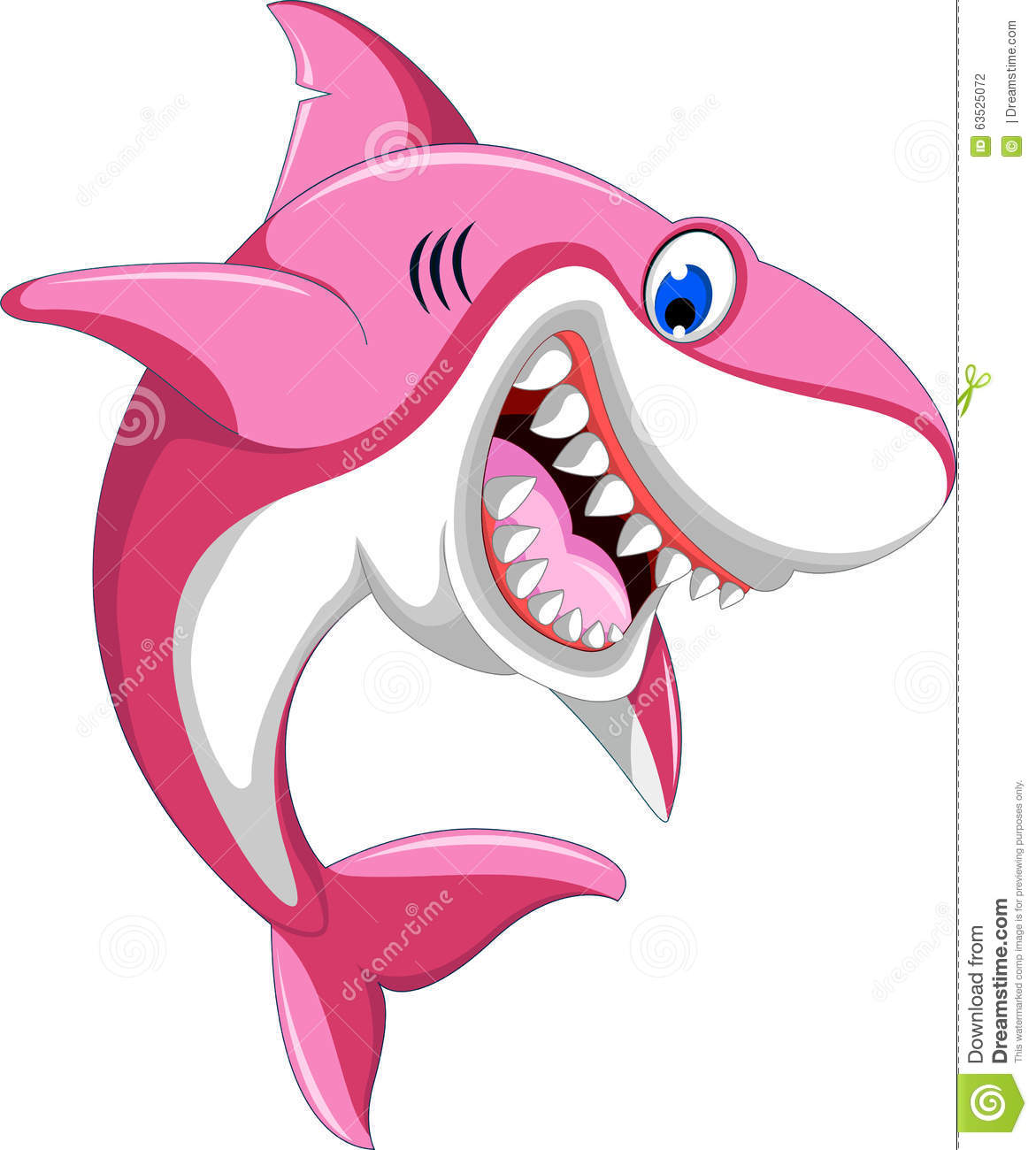 happy pink cartoon shark stock illustration illustration of swimming 63525072 shark clip art images shark clipart for kids
