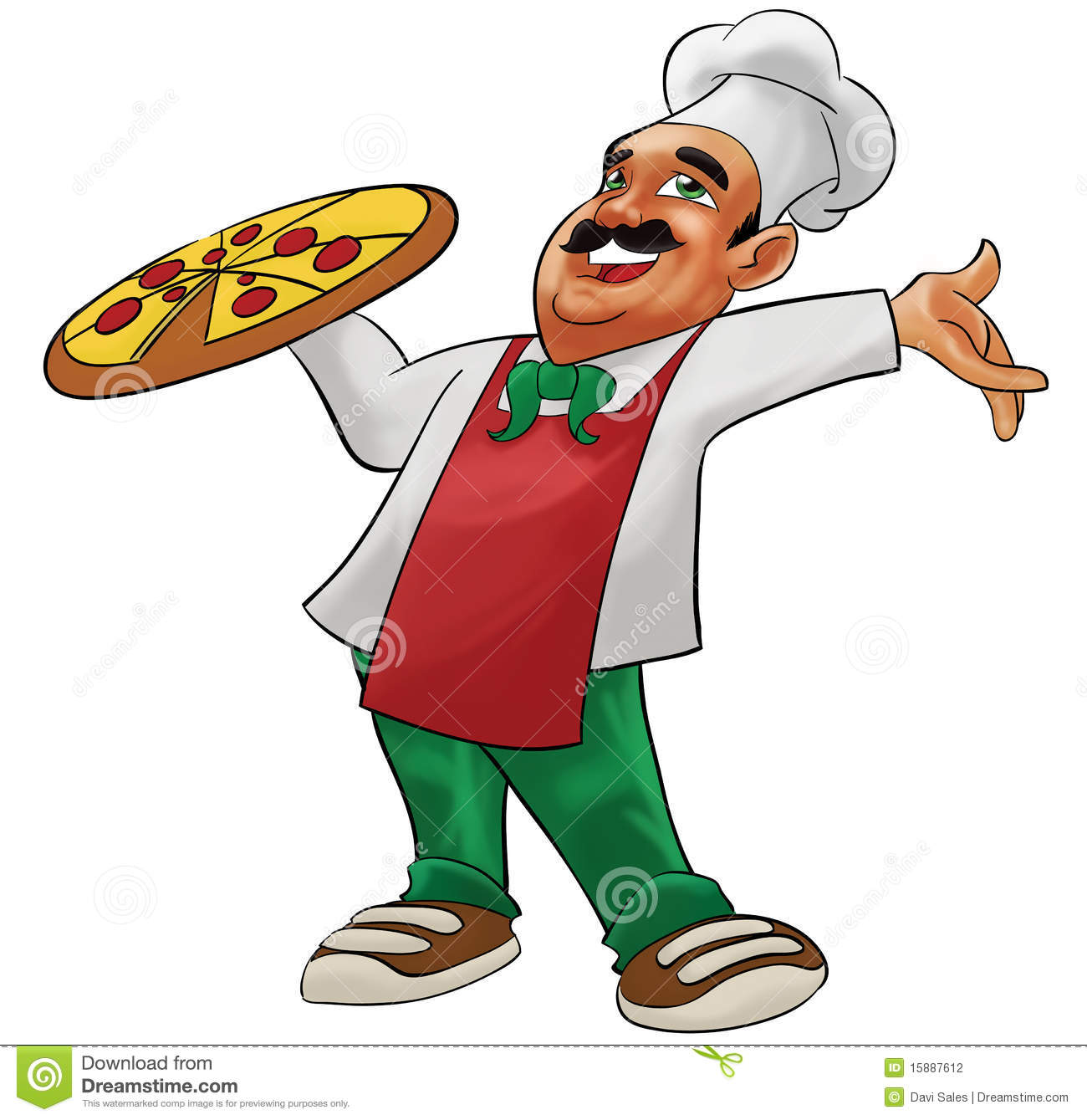 Happy Pizzaiolo Stock Photography Image 15887612