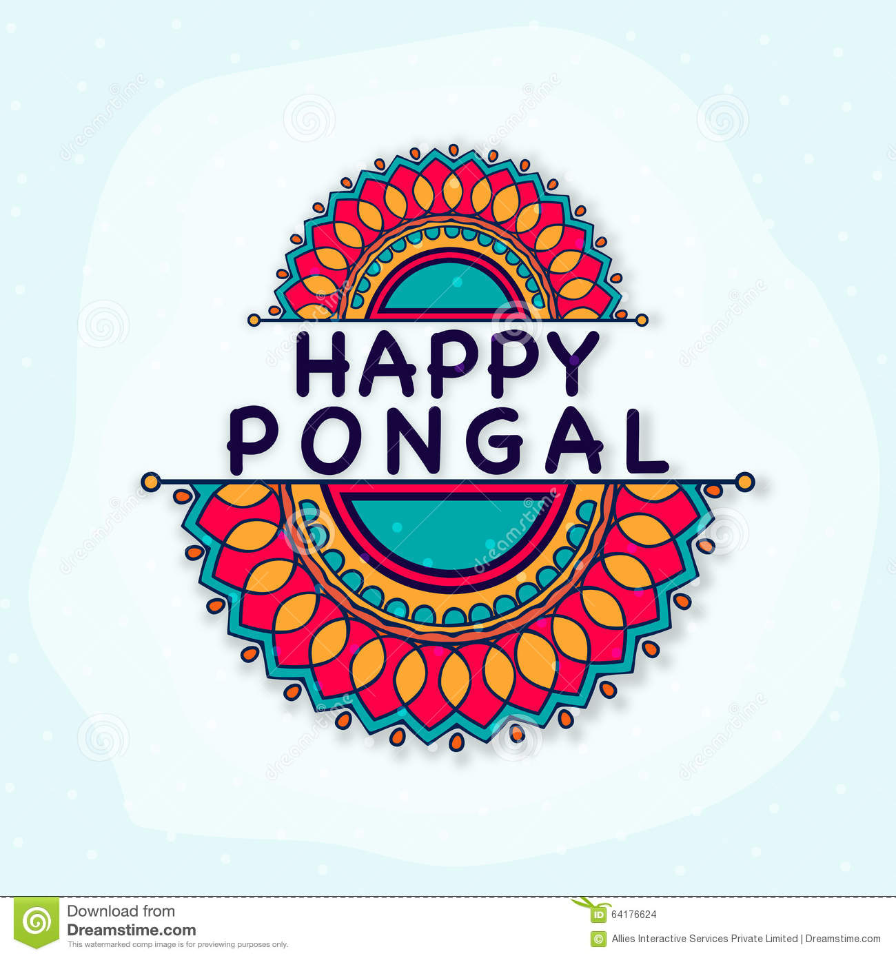 Happy Pongal Celebration Greeting Card Stock Illustration