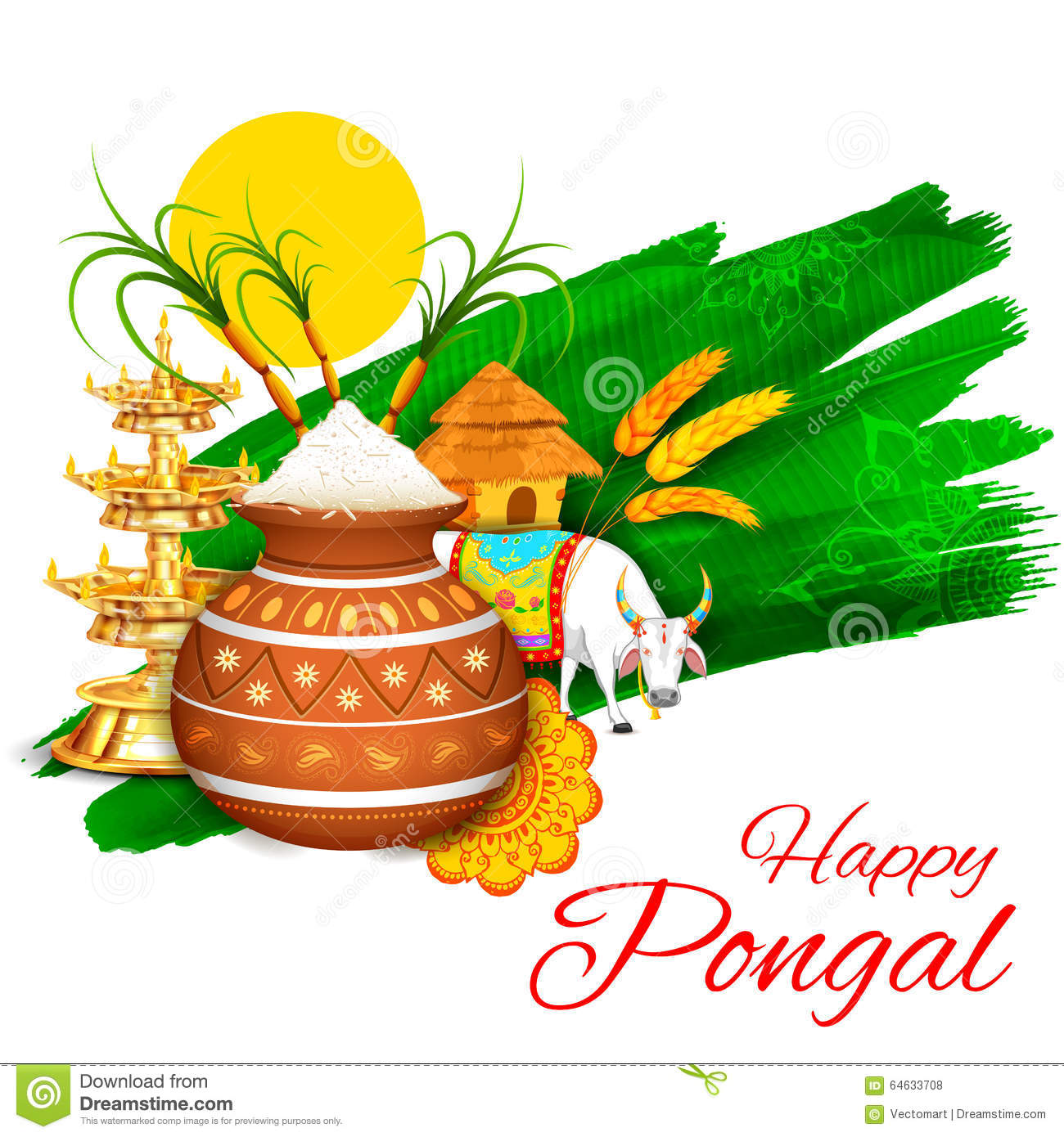Happy pongal greeting background stock vector illustration of download happy pongal greeting background stock vector illustration of kalash hindu 64633708 m4hsunfo