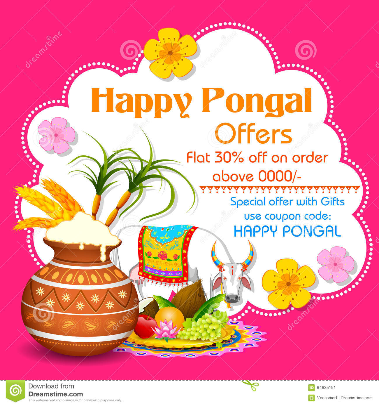Happy pongal greeting background stock vector illustration of download happy pongal greeting background stock vector illustration of kalash farm 64635191 m4hsunfo