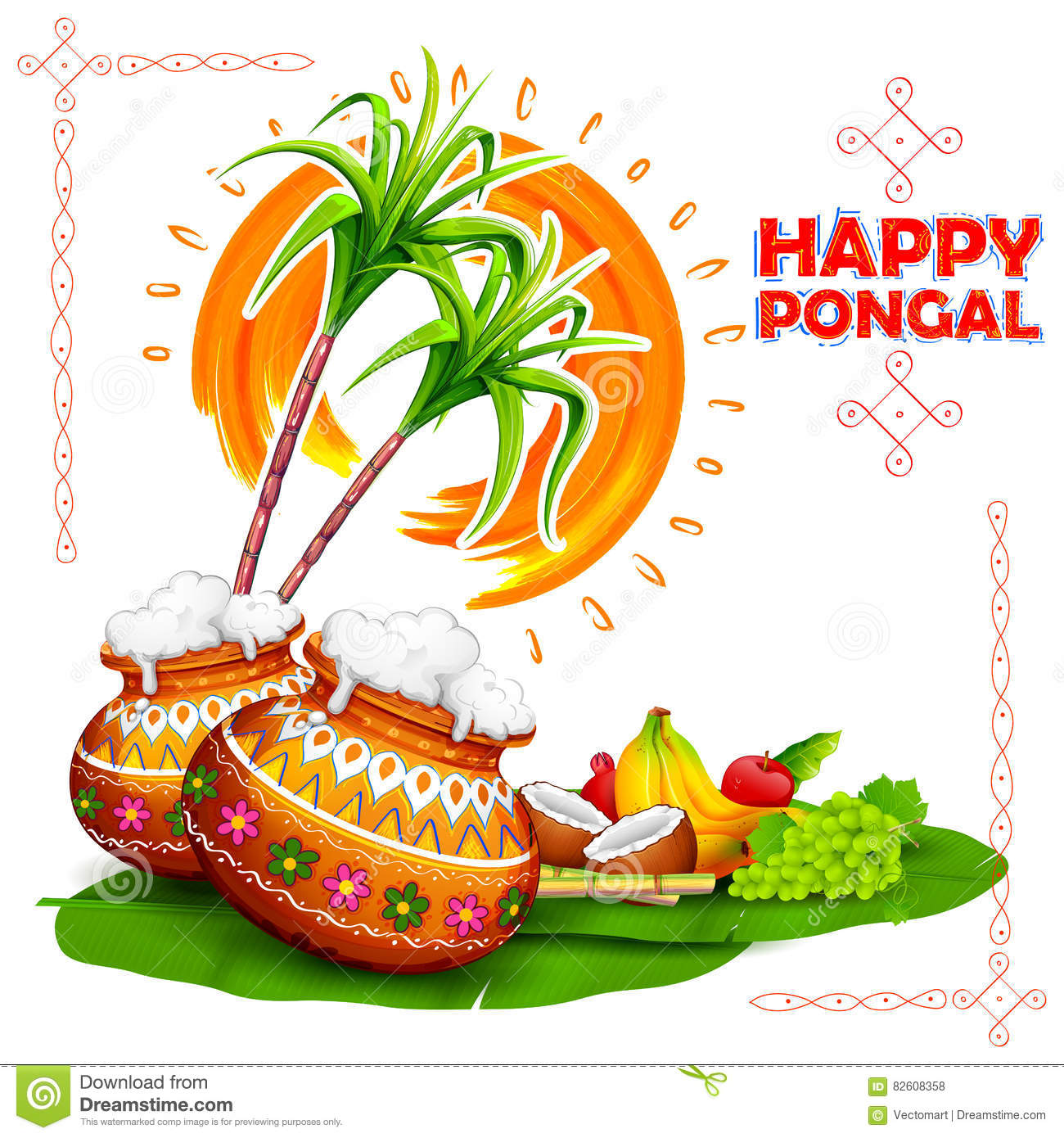 Happy pongal greeting background stock vector illustration of download happy pongal greeting background stock vector illustration of celebration kalash 82608358 m4hsunfo