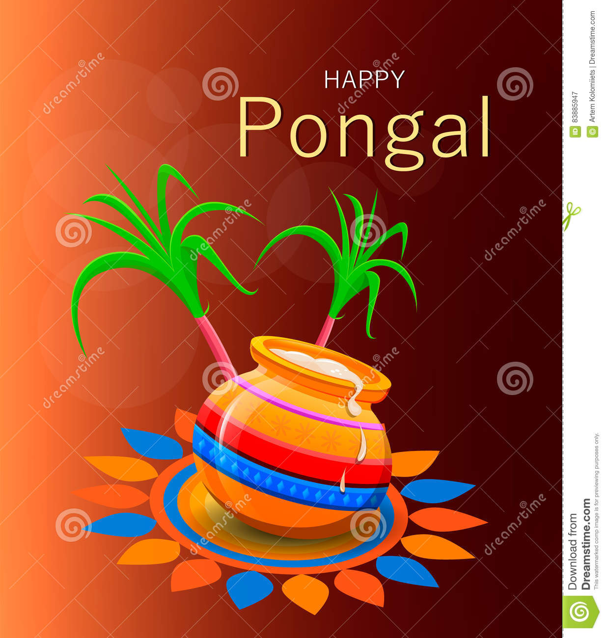 Happy pongal greeting card on brown background stock vector happy pongal greeting card on brown background m4hsunfo
