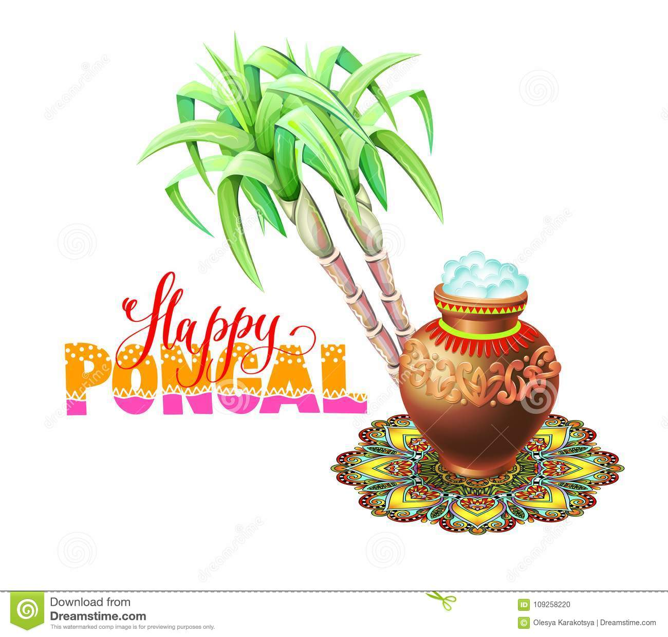 Happy pongal greeting card to south indian winter holiday design download happy pongal greeting card to south indian winter holiday design stock vector illustration of m4hsunfo