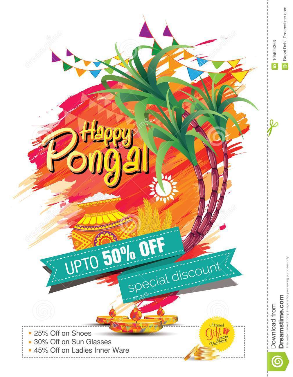 Happy pongal greetings background template design stock vector download happy pongal greetings background template design stock vector illustration of discount india m4hsunfo