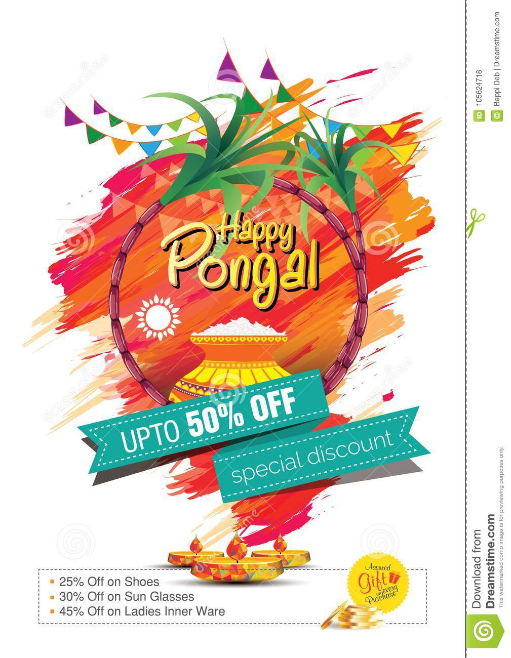 Happy pongal greetings background template design stock vector download happy pongal greetings background template design stock vector illustration of hindu artistic m4hsunfo