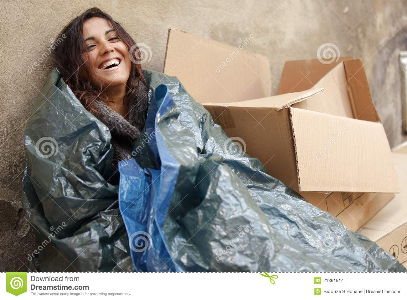 Happy Poor Woman Stock Images - Image: 21361514