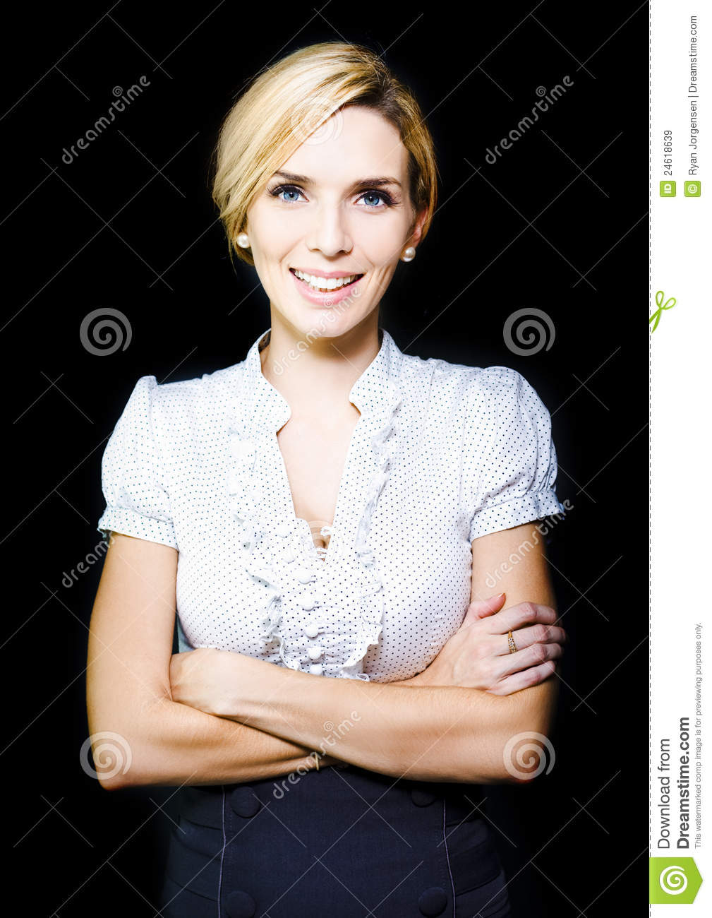 Happy Positive Female Business Person With Smile