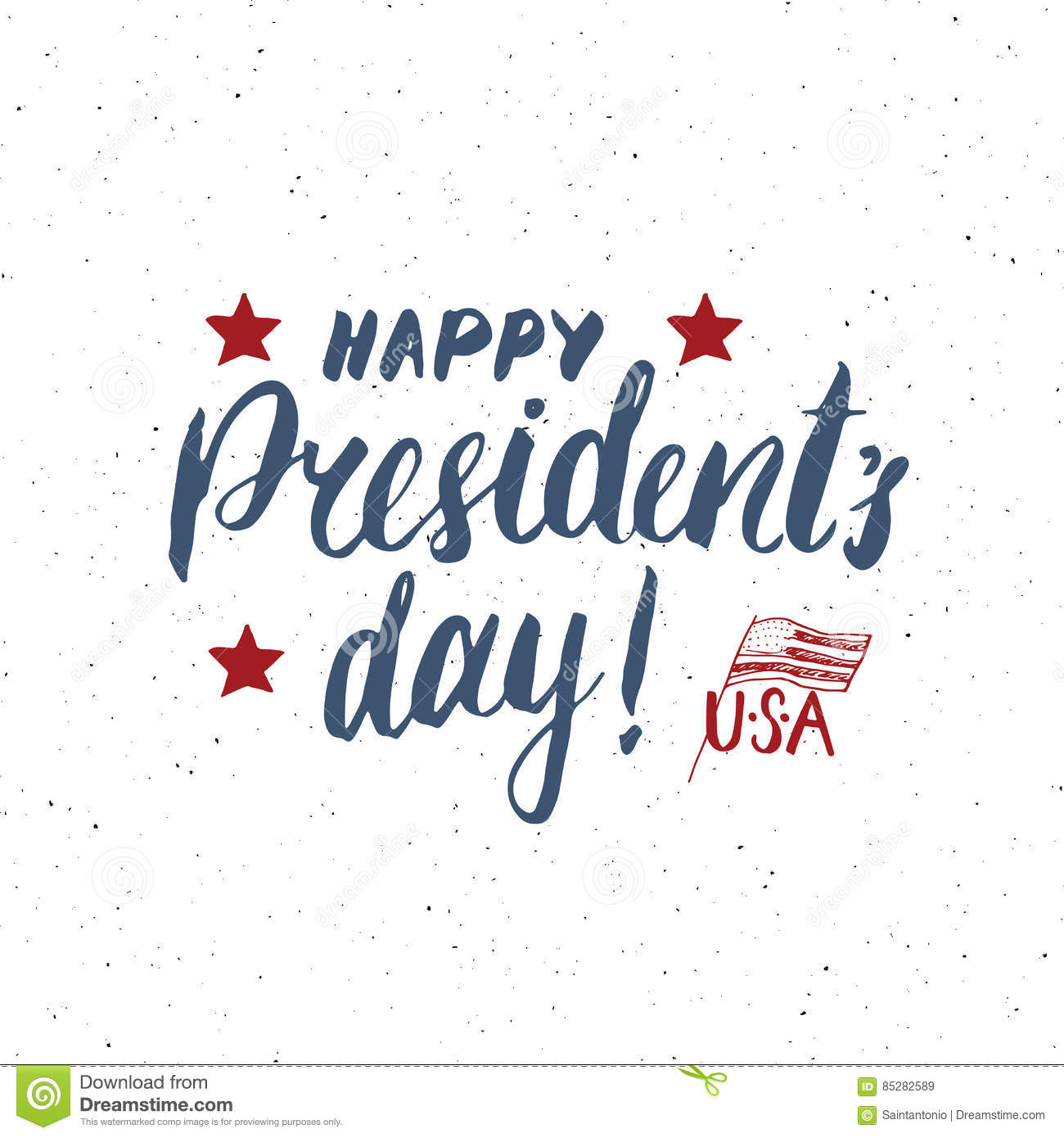 Happy Presidents Day Vintage Usa Greeting Card United States Of