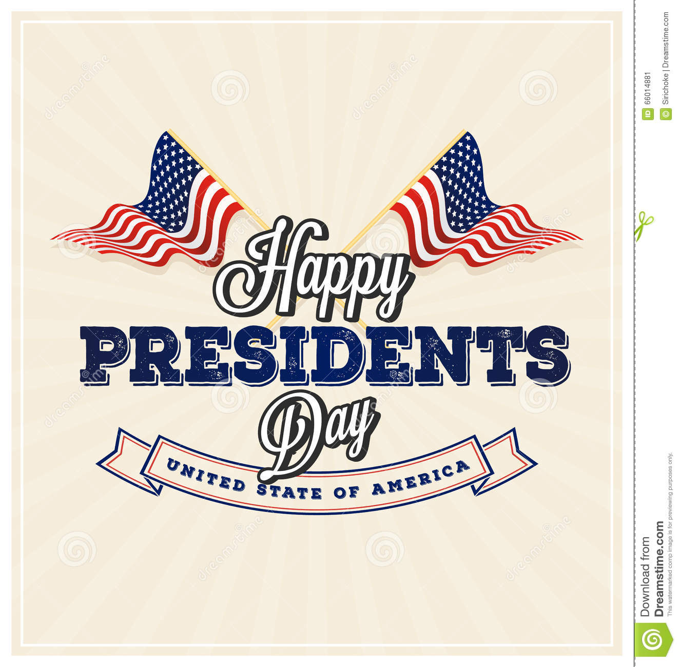 Extended Presidents Day: Happy Presidents Day Background Stock Vector