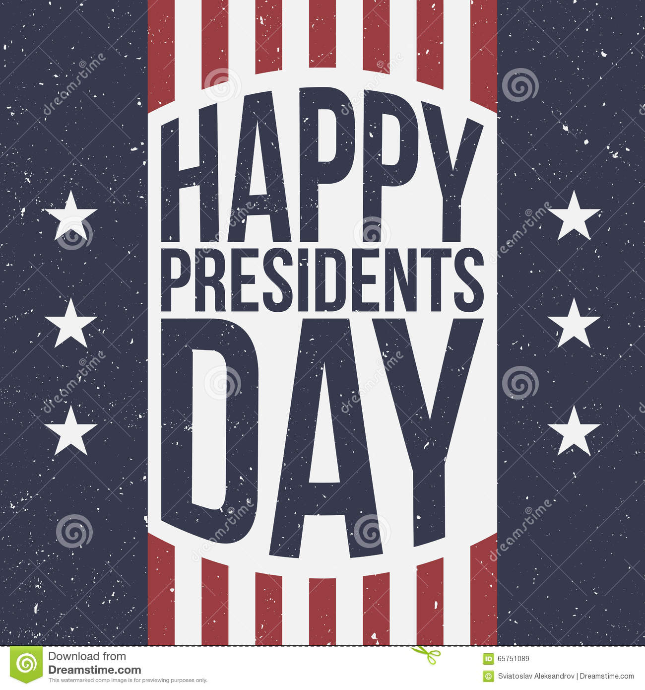 Extended Presidents Day: Happy Presidents Day Patriotic Background Stock Vector