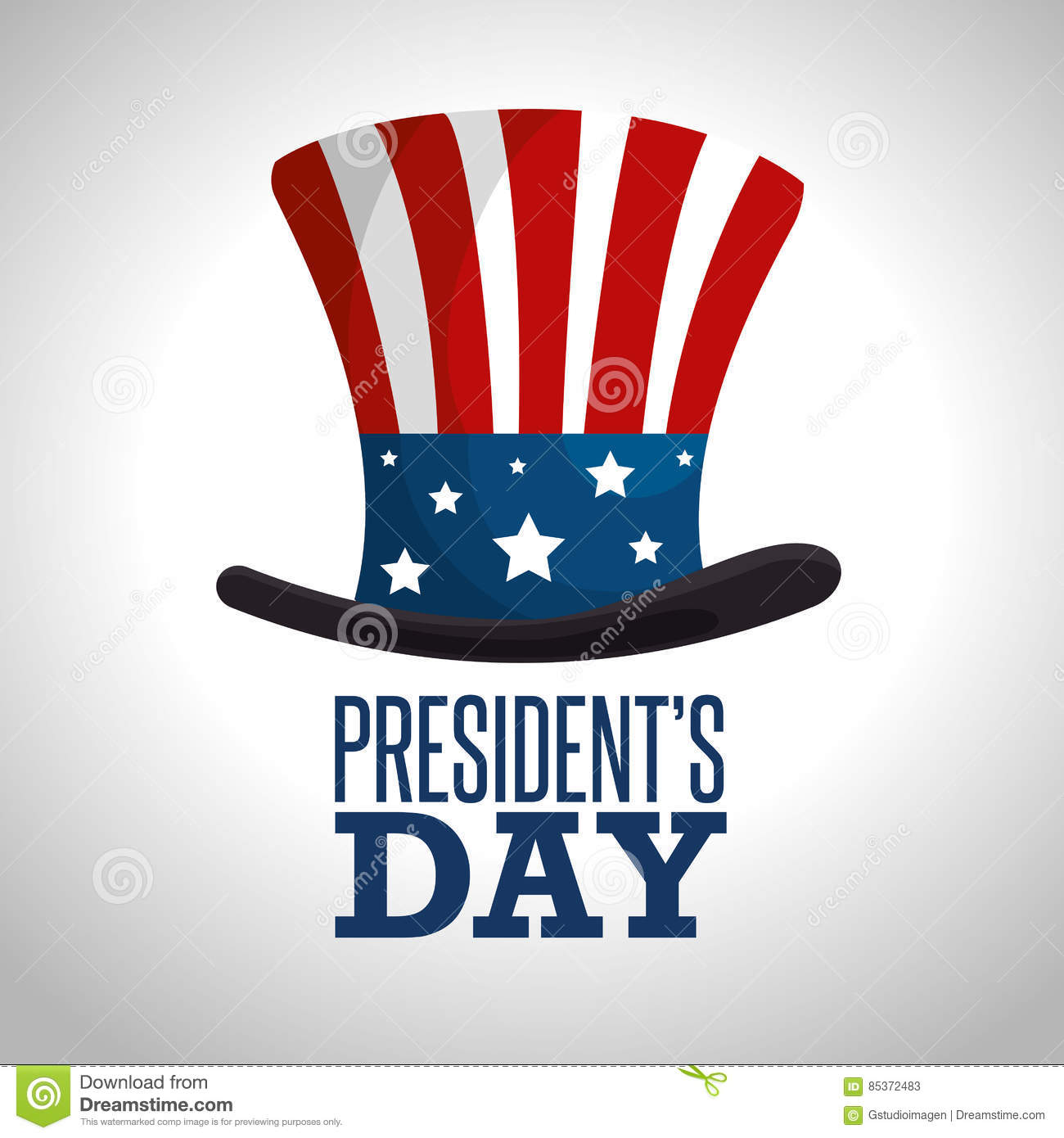 Extended Presidents Day: Happy Presidents Day Poster Stock Vector