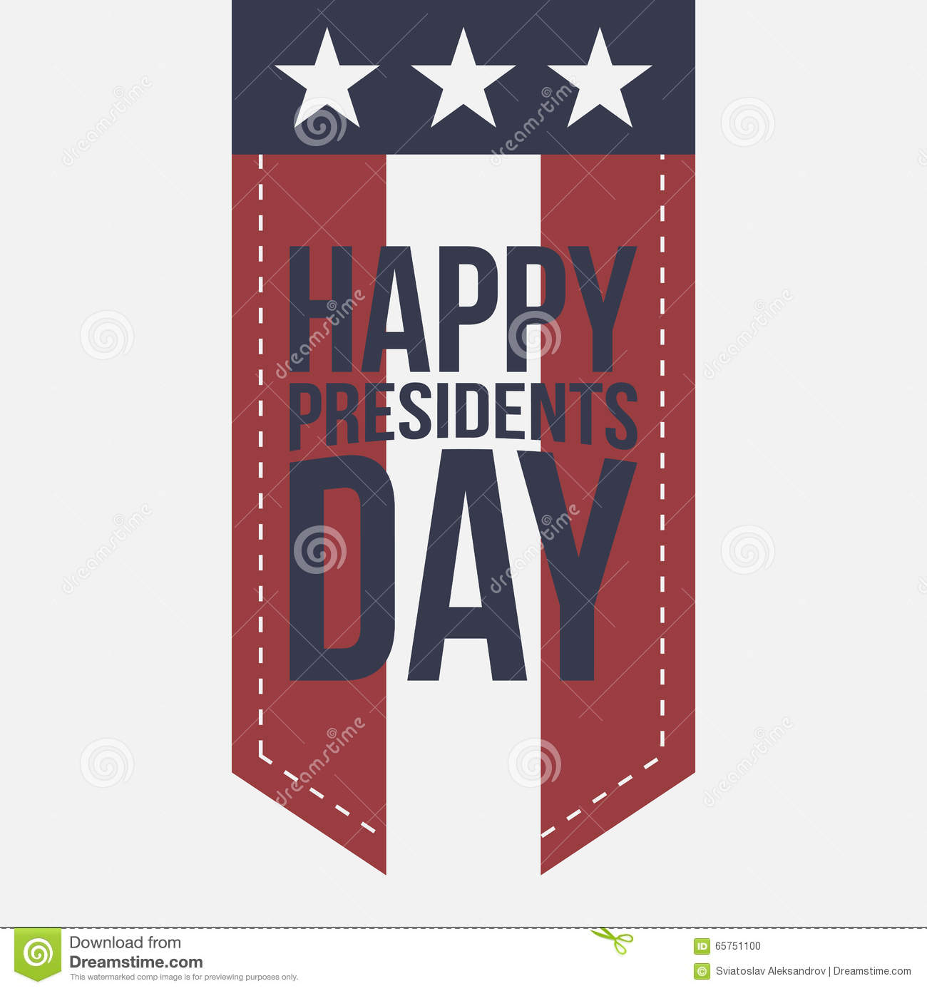 Extended Presidents Day: Happy Presidents Day Vintage Label With Text Stock Vector