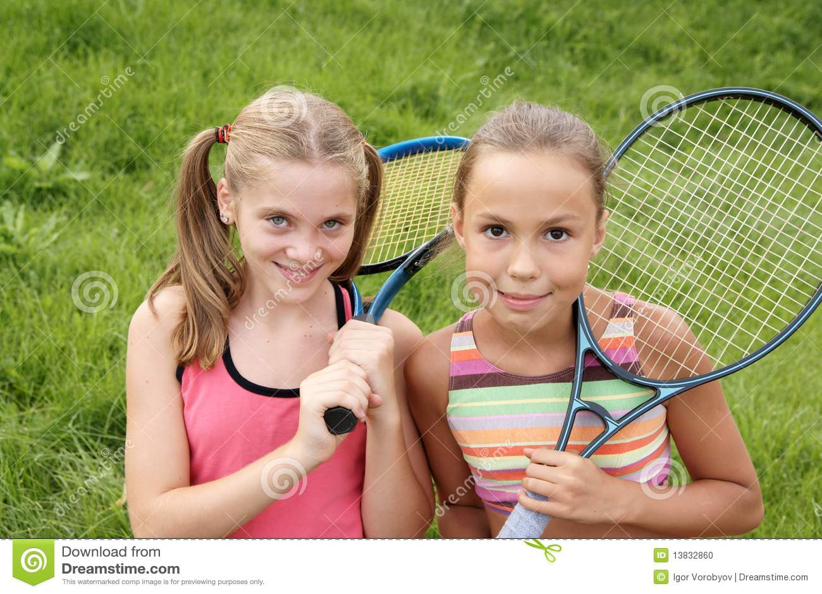 Happy Preteen Girls Stock Photo - Image 13832860-8206