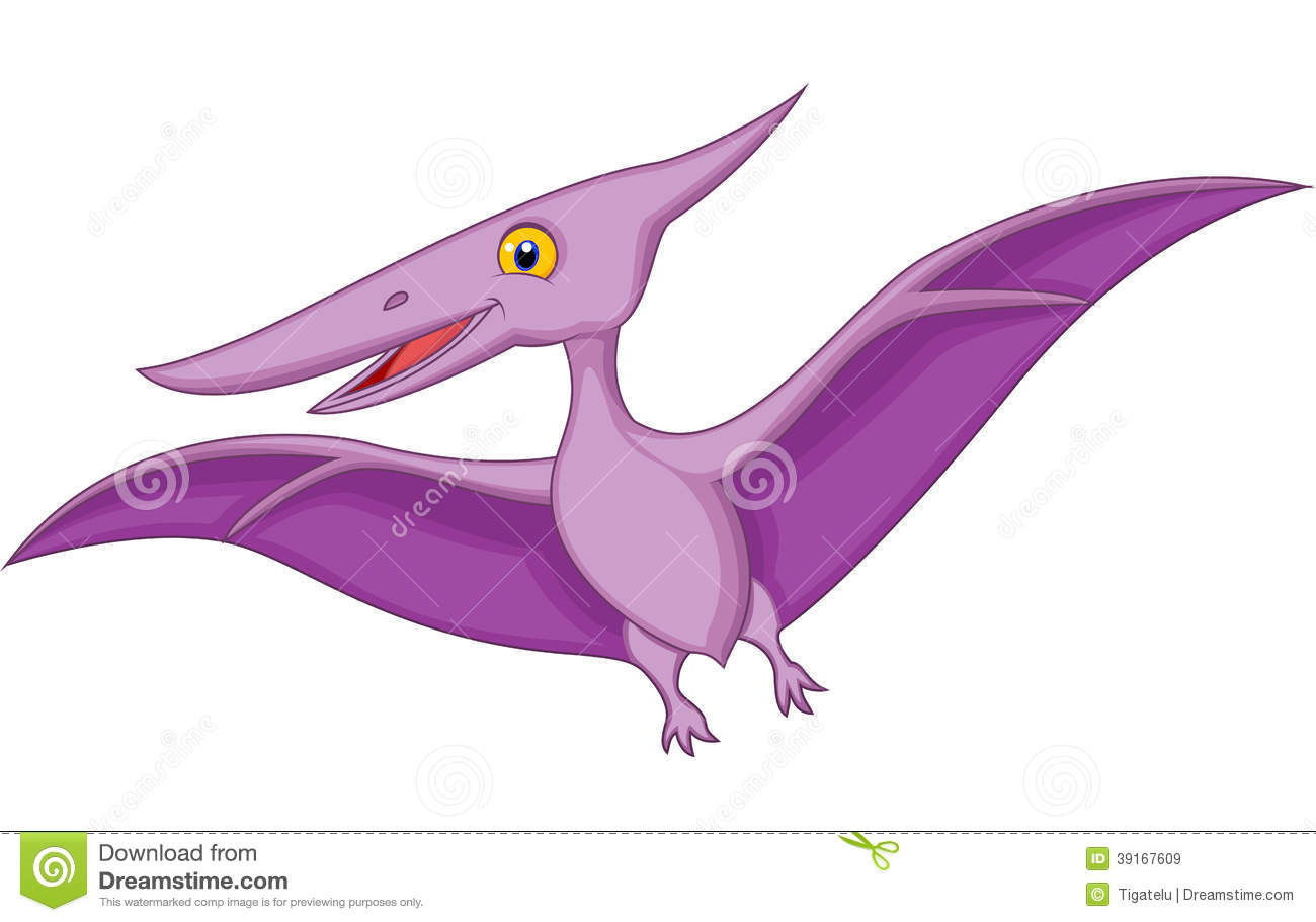 Happy Cartoon Pterodactyl Stock Vector - Image: 39167609