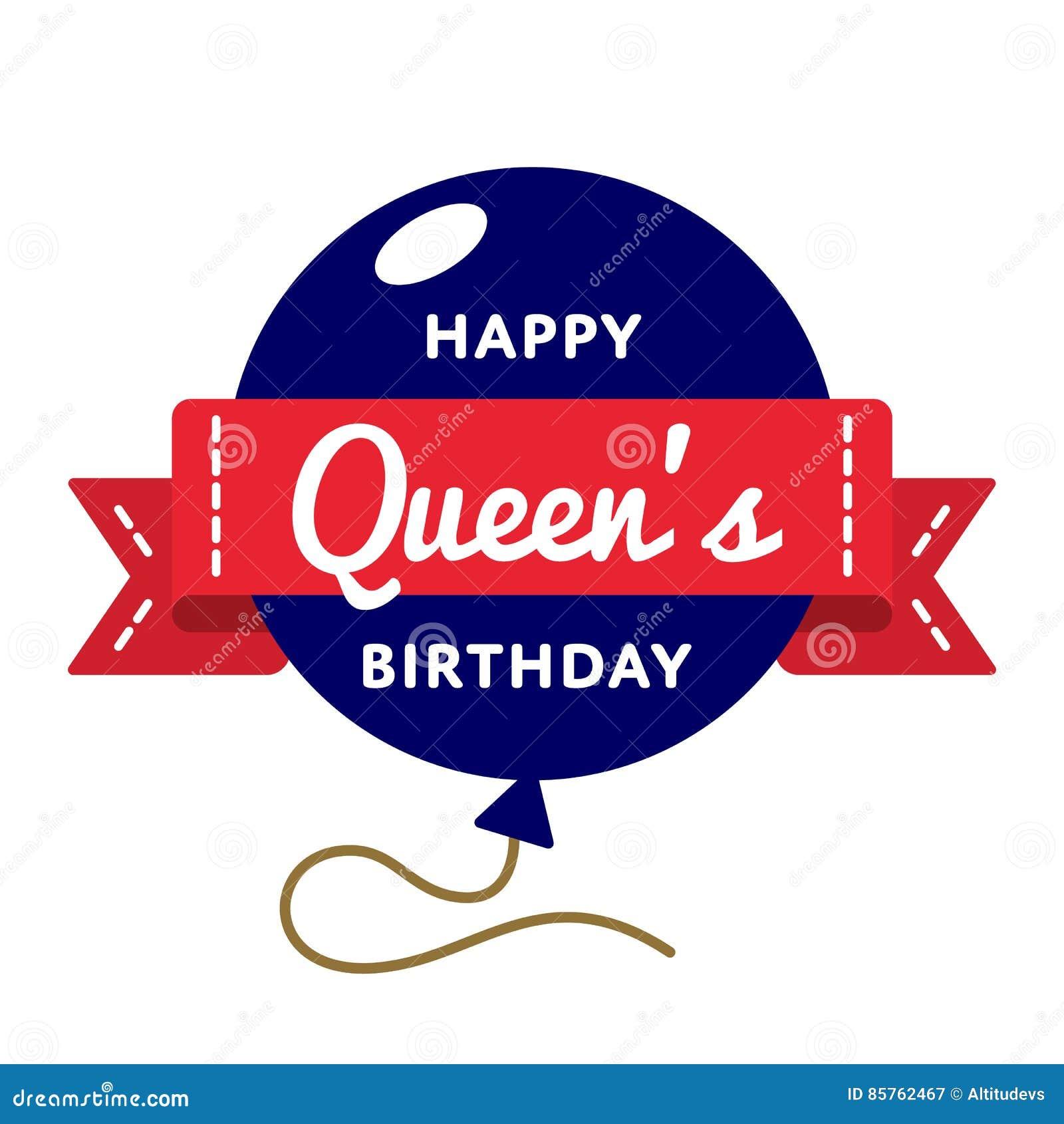 Happy queens birthday greeting emblem stock vector illustration of happy queens birthday greeting emblem m4hsunfo