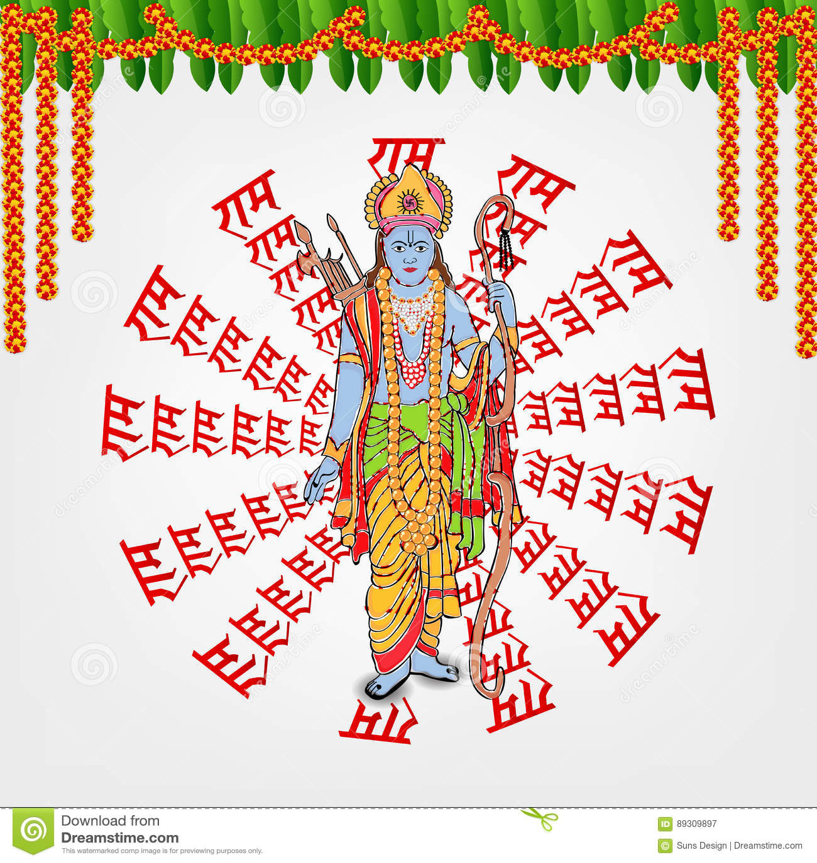 Sita cartoons illustrations vector stock images 169 for Jai shree ram tattoo in hindi