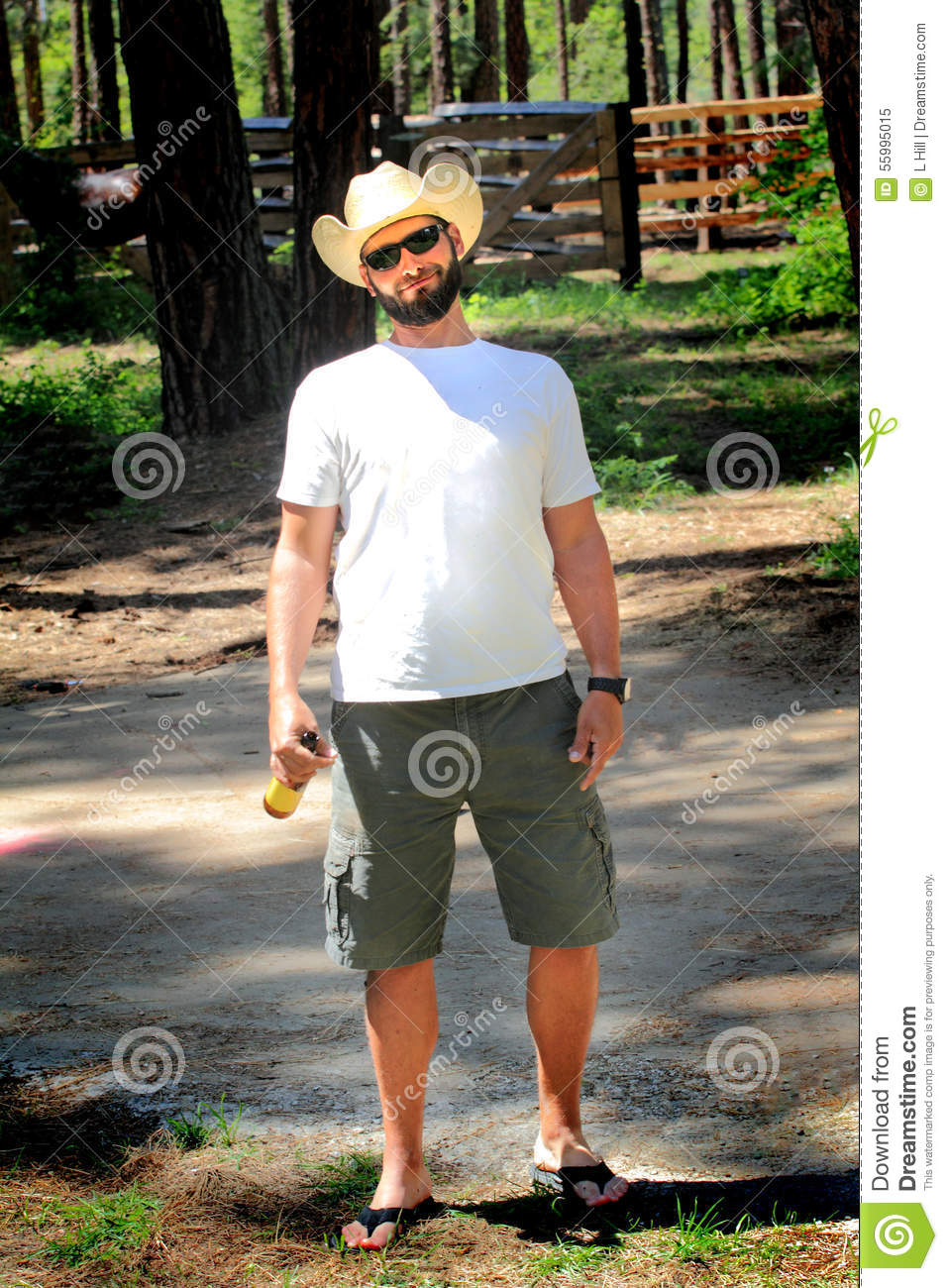 Happy Relaxed Cowboy Stock Image Image Of Country