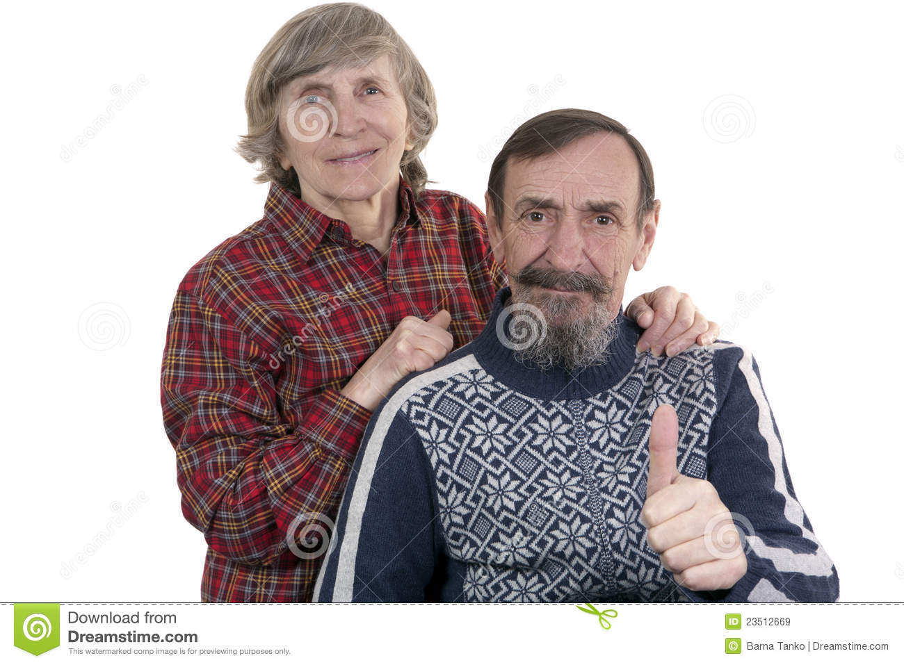 Happy Senior Old Couple Relaxing Talking Laughing Sitting
