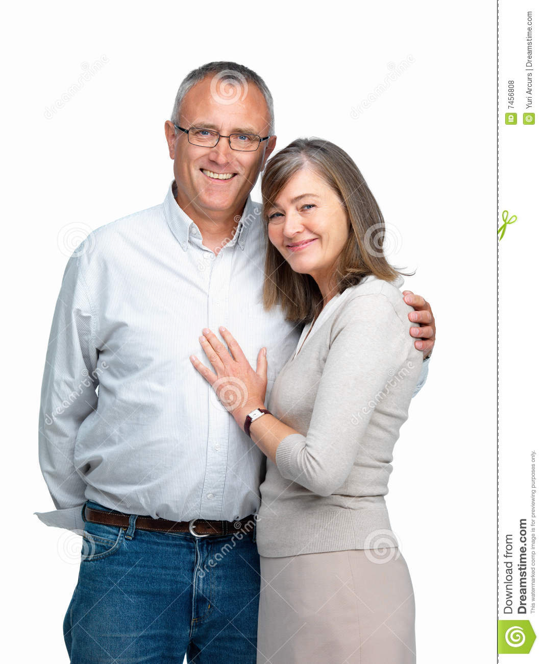Happy Retired Couple Resting Stock Photo - Download Image