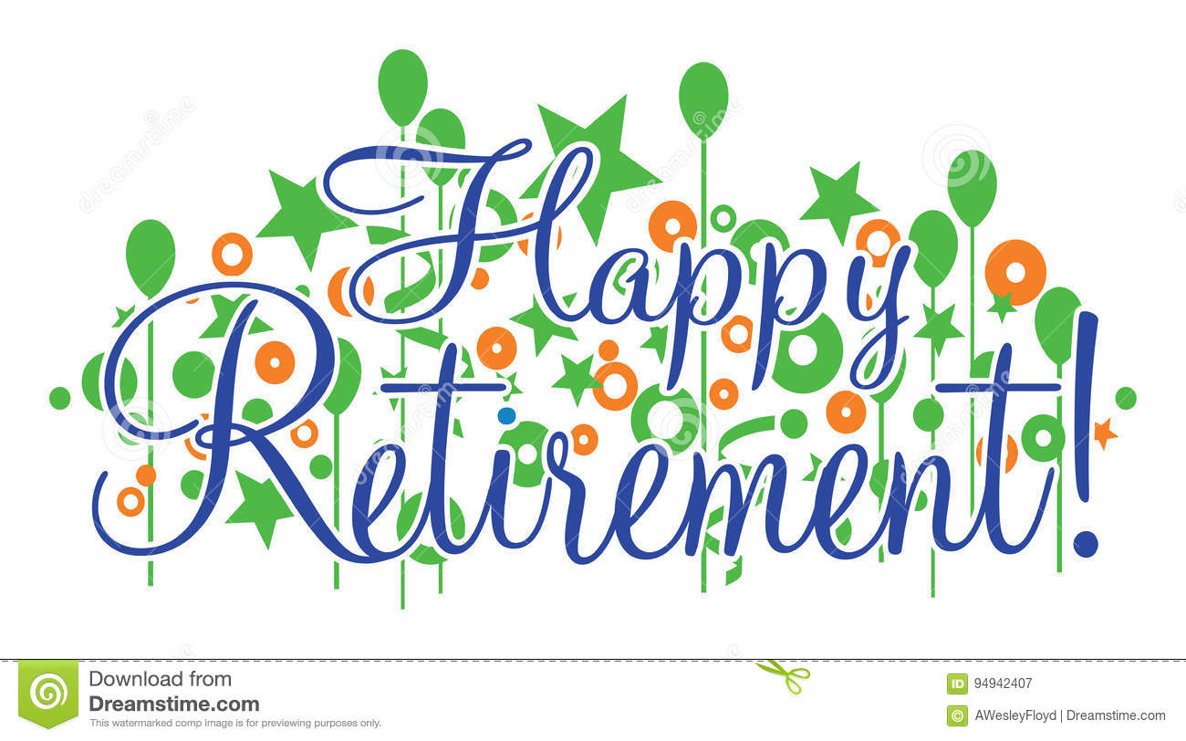 happy retirement banner stock vector illustration of male 94942407 rh dreamstime com happy retirement clip art free happy retirement clipart