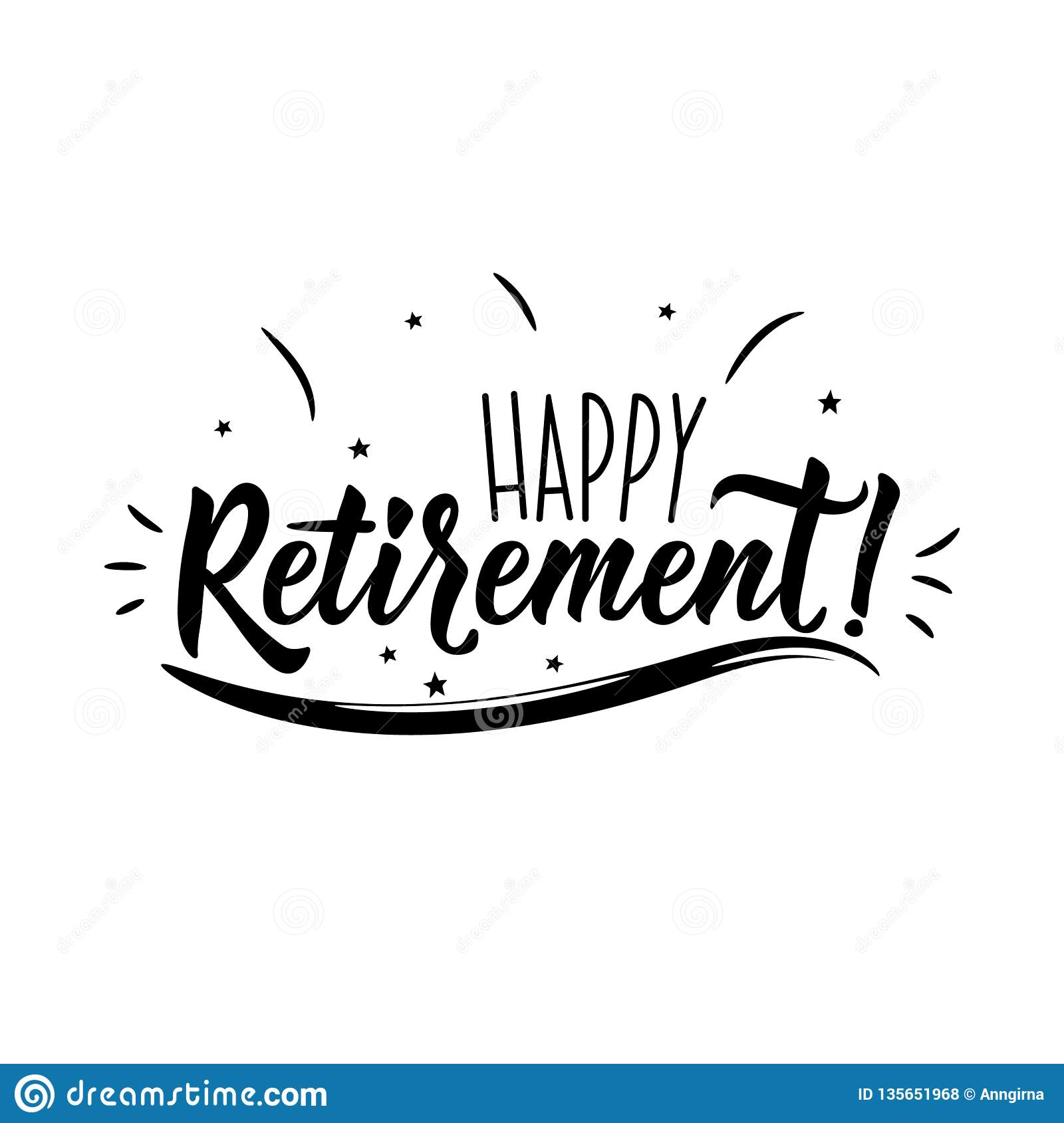 image about Lettering Printable identify Joyful Retirement. Favourable Printable Indicator. Lettering