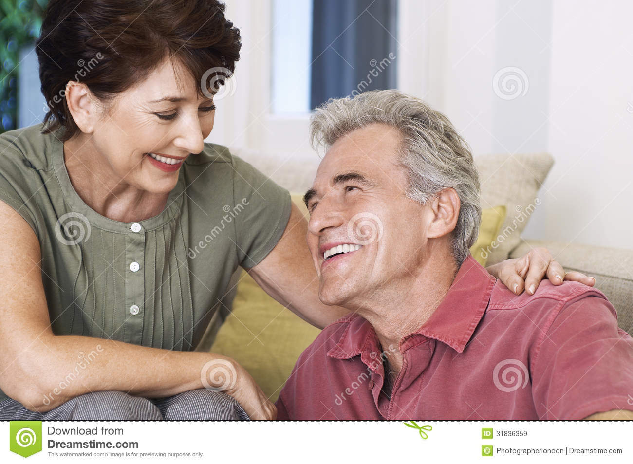Happy And Romantic Middle Aged Couple